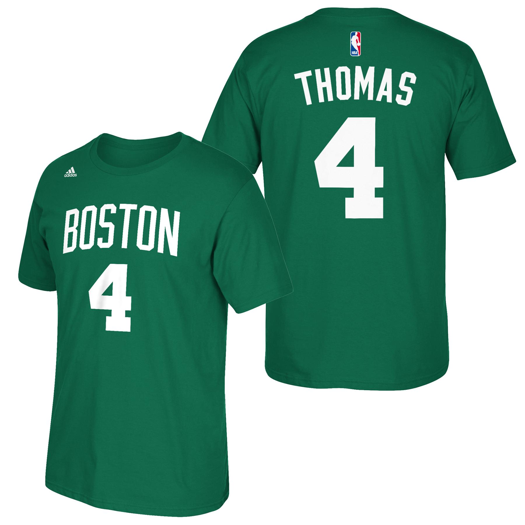 Boston Celtics adidas Name & Number T-Shirt - Isaiah Thomas