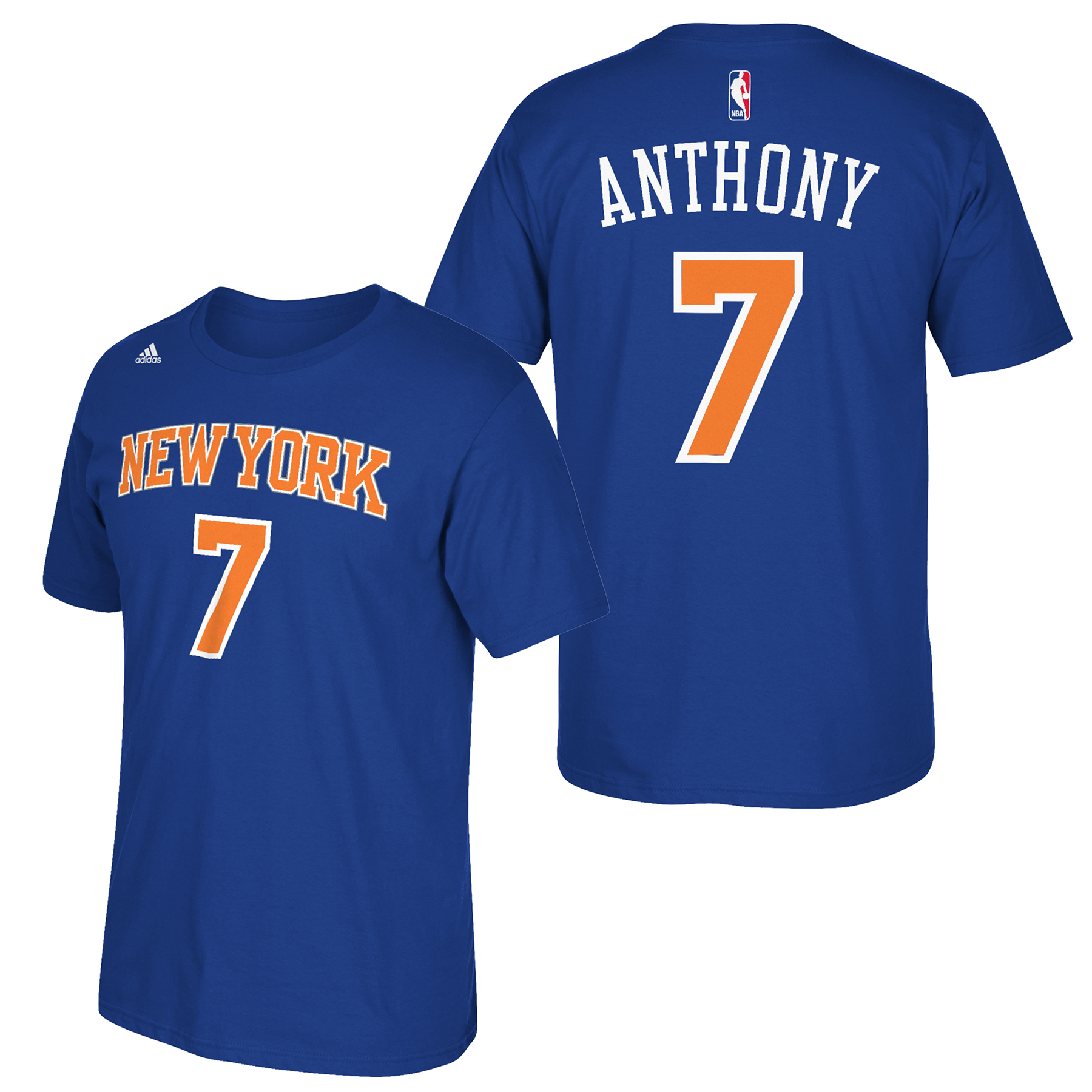 New York Knicks adidas Name & Number T-Shirt - Carmelo Anthony