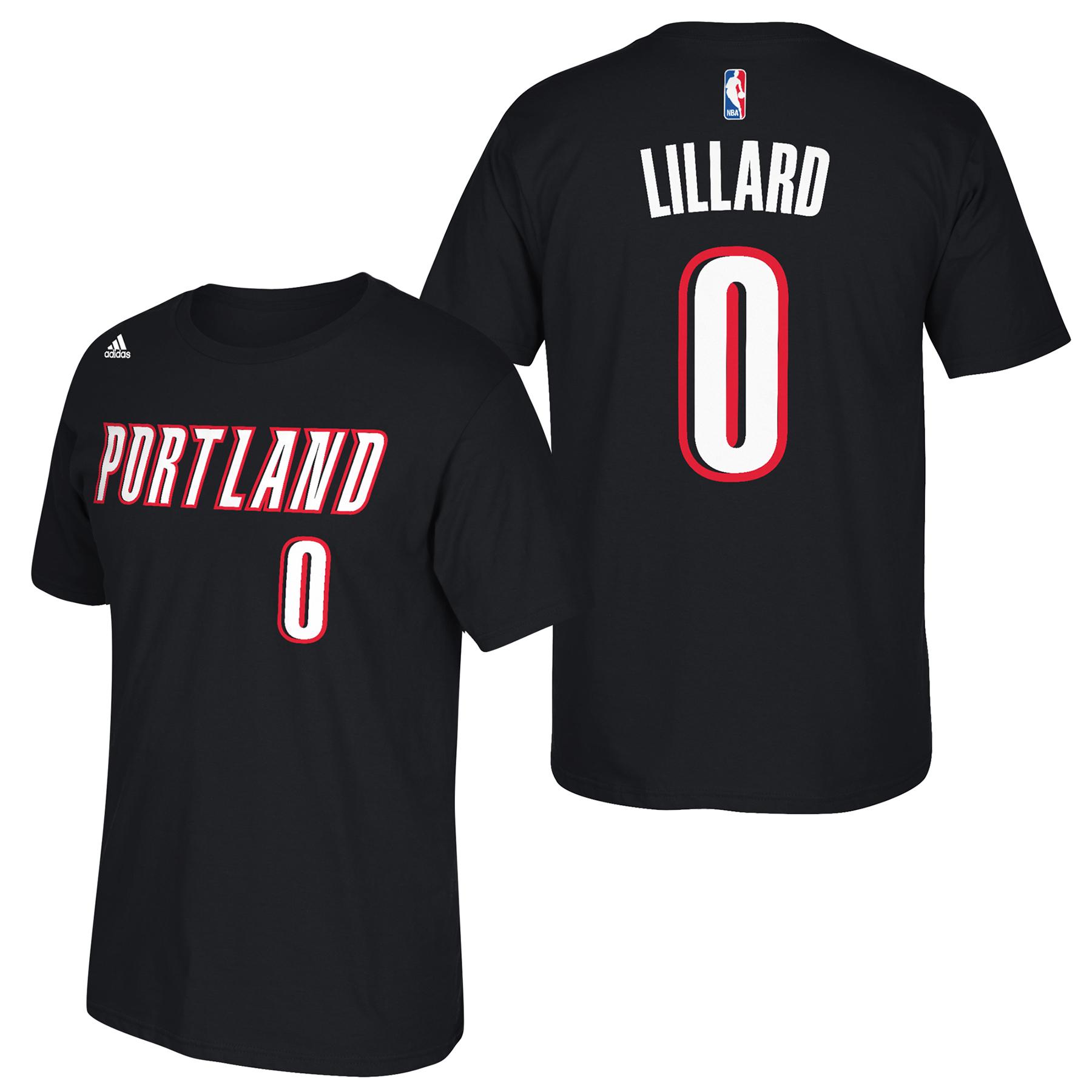 Portland Trail Blazers adidas Name & Number T-Shirt - Damian Lillard