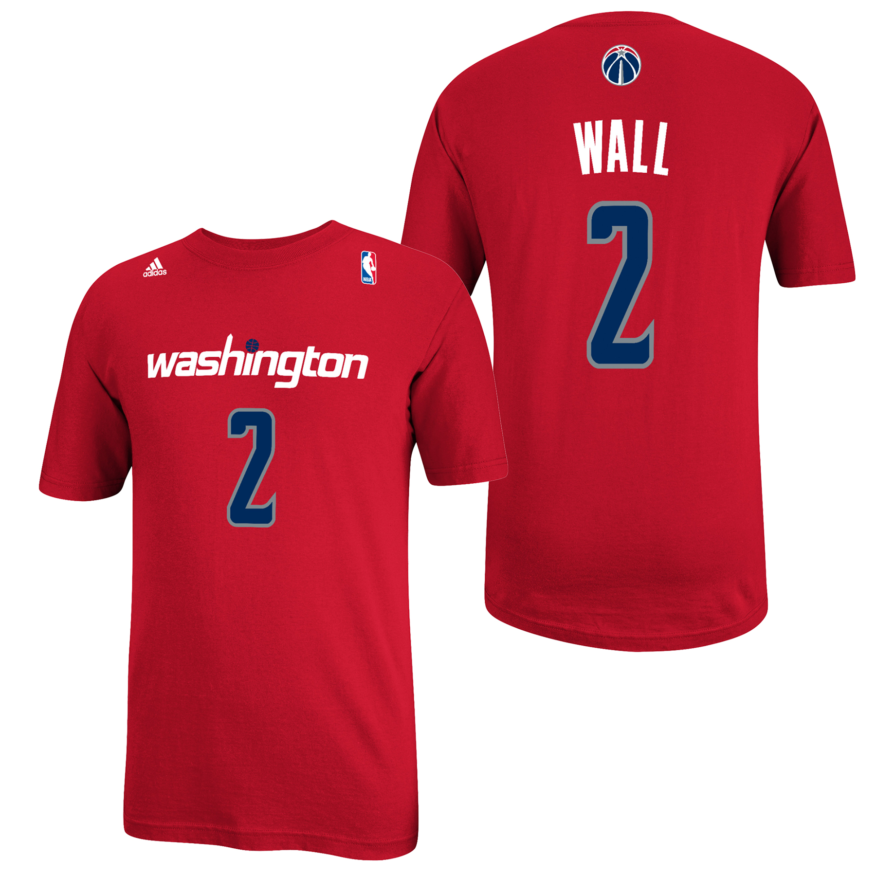 Washington Wizards adidas Name & Number T-Shirt - John Wall