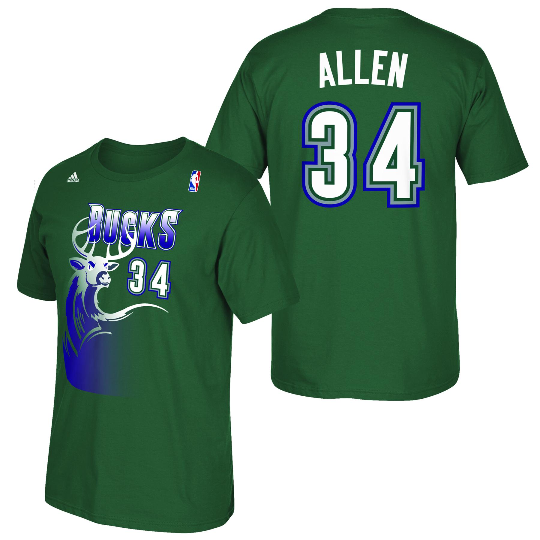 Milwaukee Bucks adidas Soul Name & Number T-Shirt - Ray Allen
