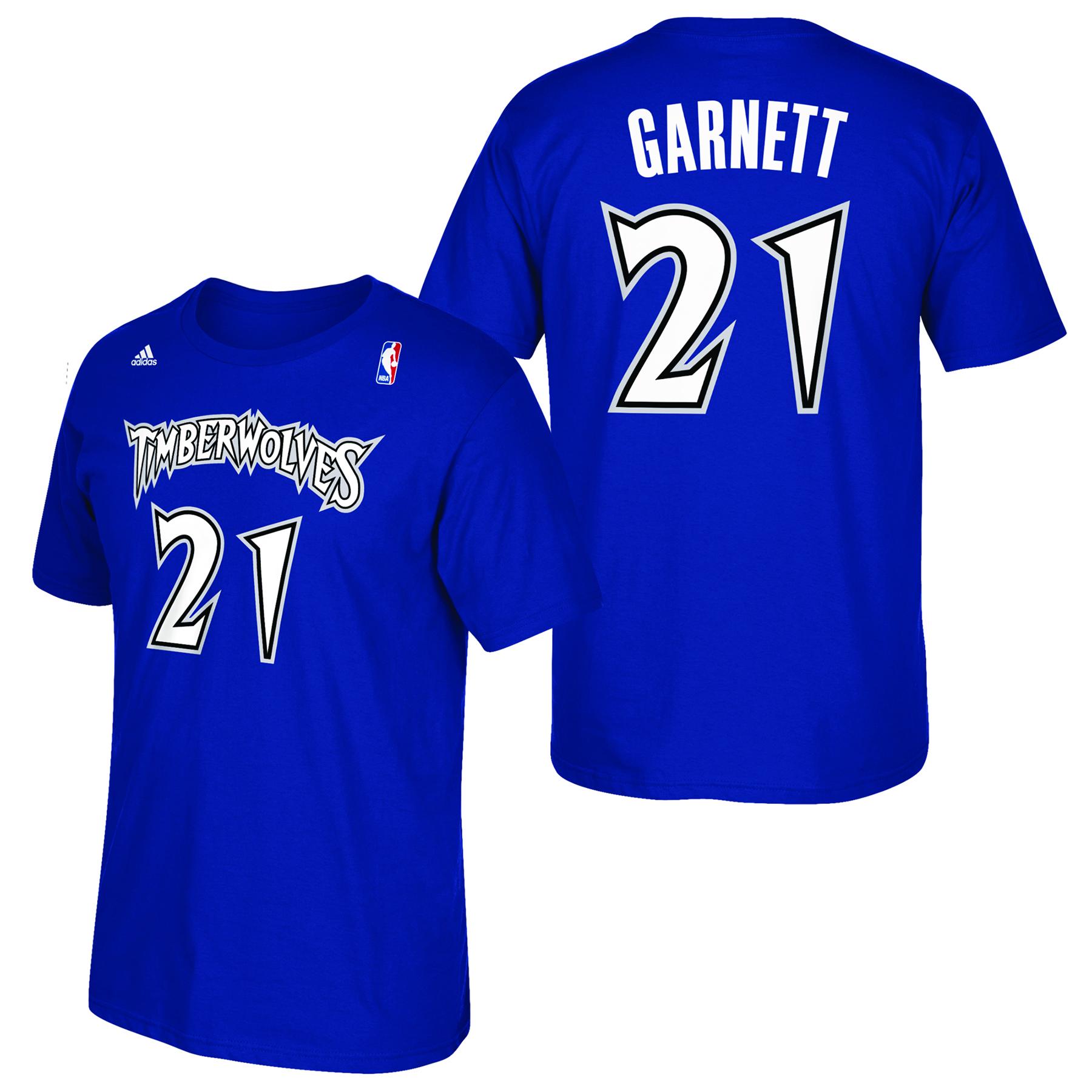 Minnesota Timberwolves adidas Soul Name & Number T-Shirt - Kevin Garne