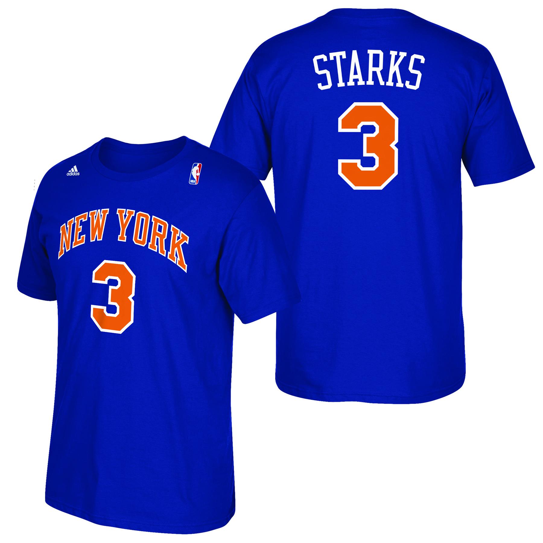 New York Knicks adidas Soul Name & Number T-Shirt - John Starks