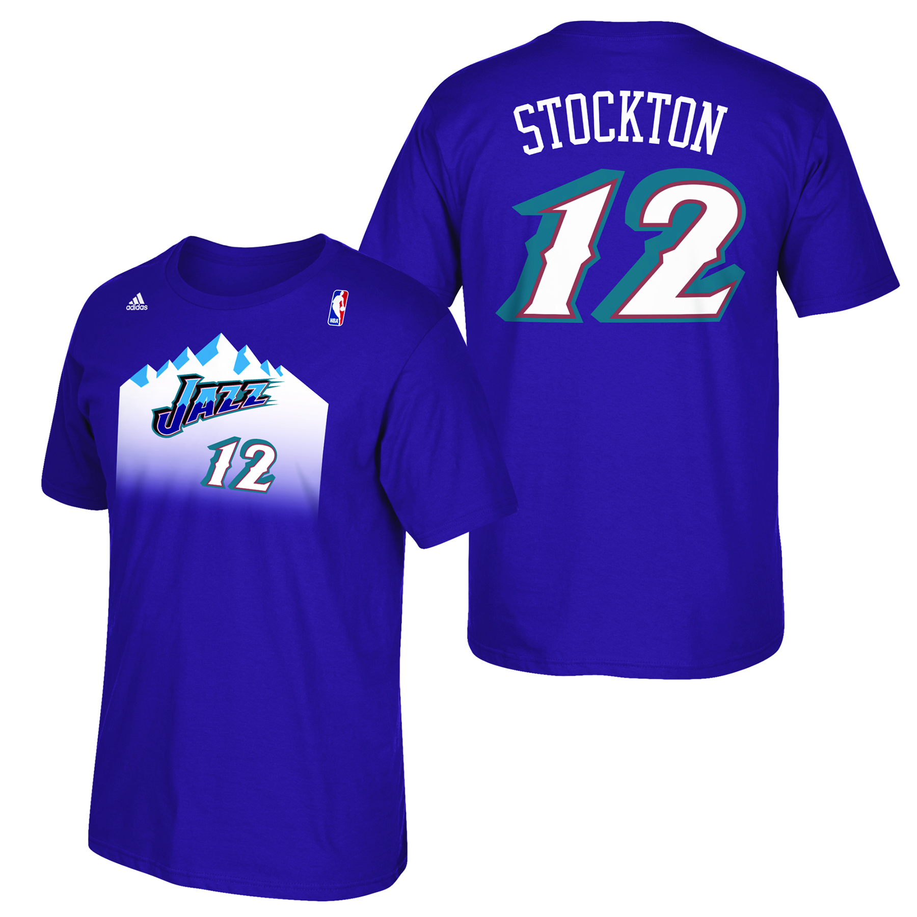 Utah Jazz adidas Soul Name & Number T-Shirt - John Stockton