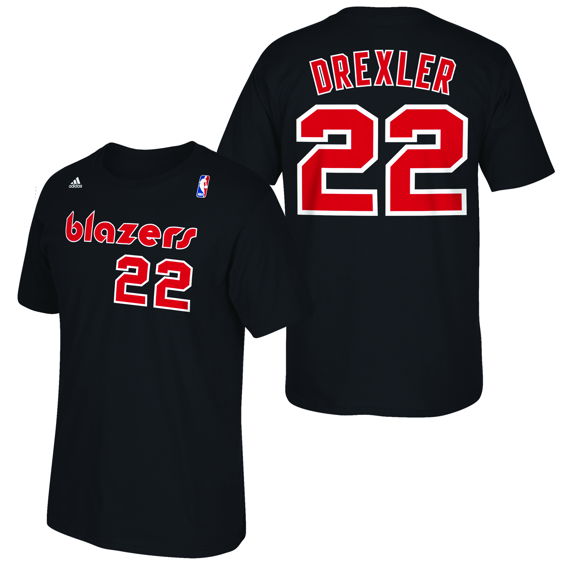 Portland Trail Blazers adidas Soul Name & Number T-Shirt - Clyde Drexl