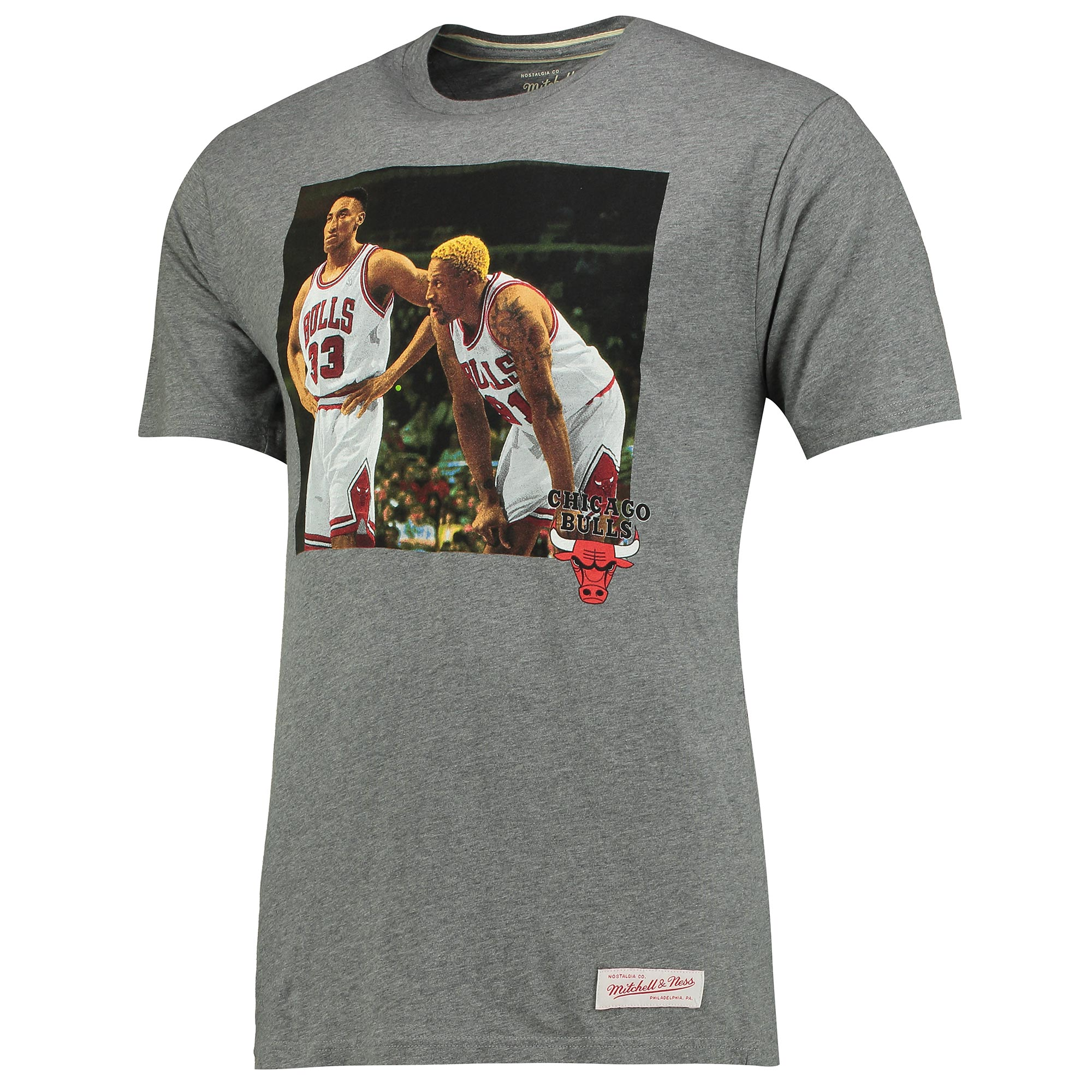 Chicago Bulls Teammate Pippen/Rodman Colour Photo T-Shirt by Mitchell