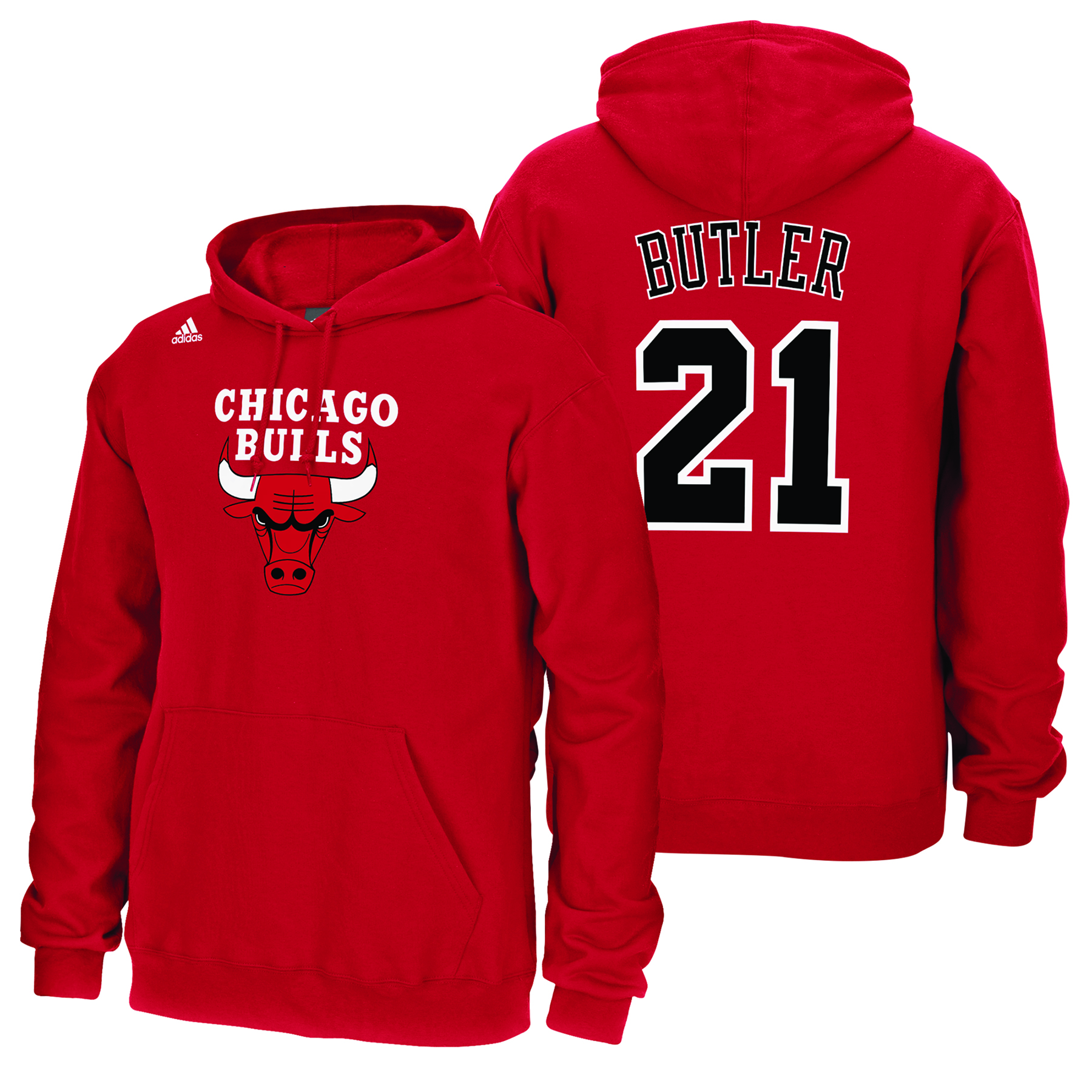 Chicago Bulls adidas Name & Number Hoodie - Jimmy Butler