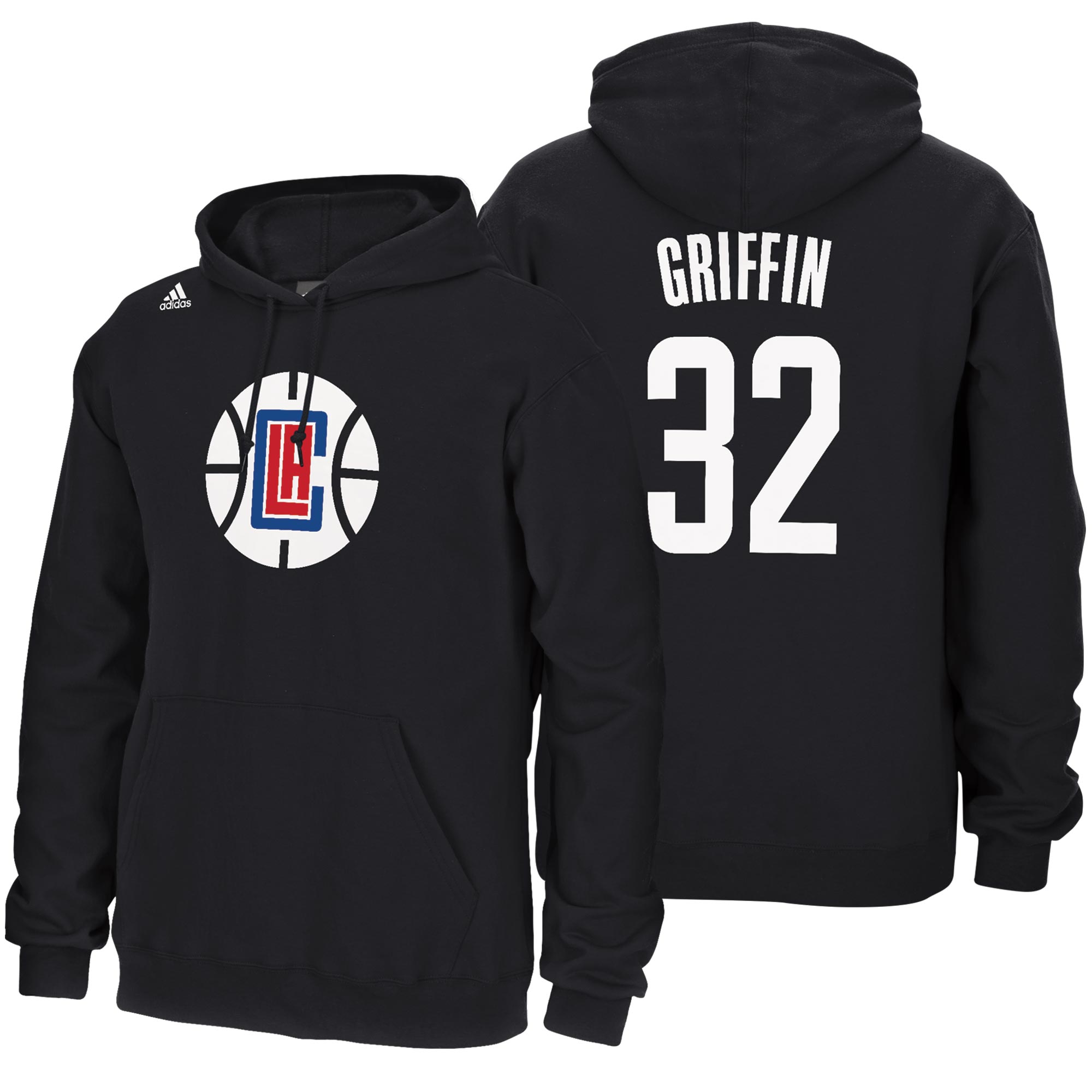 LA Clippers adidas Name & Number Hoodie - Blake Griffin