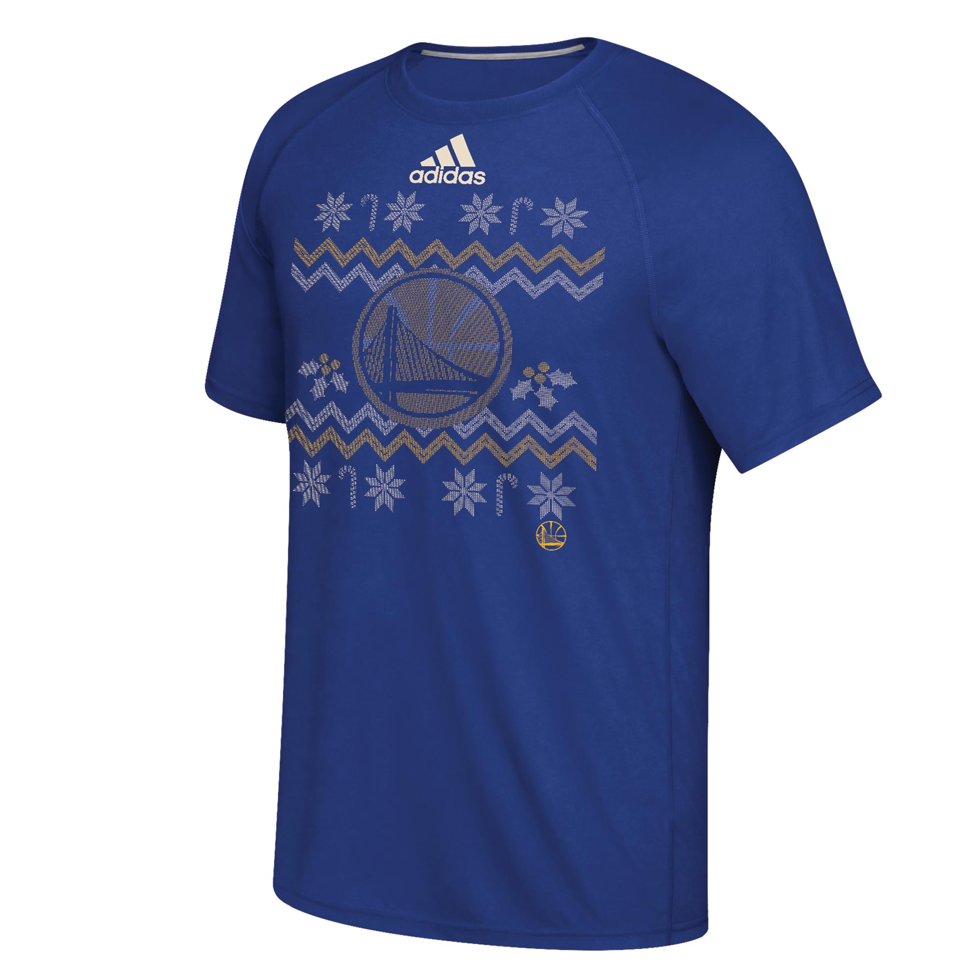 Golden State Warriors Christmas Day Ugly Sweater On-Court T-Shirt 2016