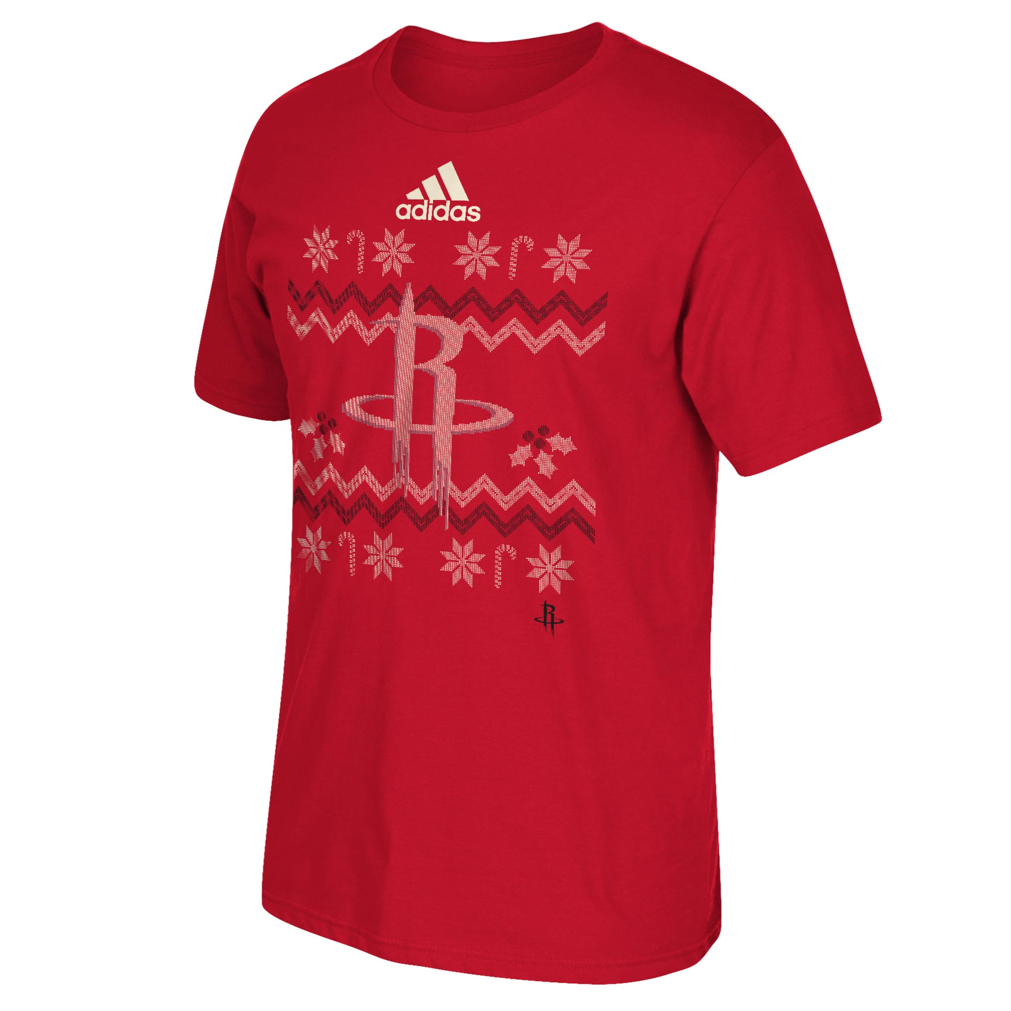 Houston Rockets Christmas Day Ugly Sweater On-Court T-Shirt 2016