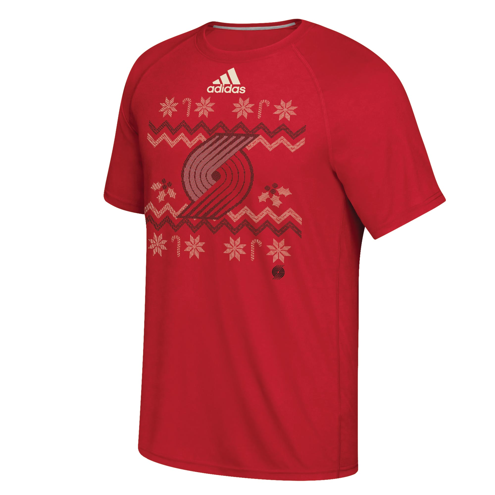 Portland Trail Blazers Christmas Day Ugly Sweater On-Court T-Shirt 201