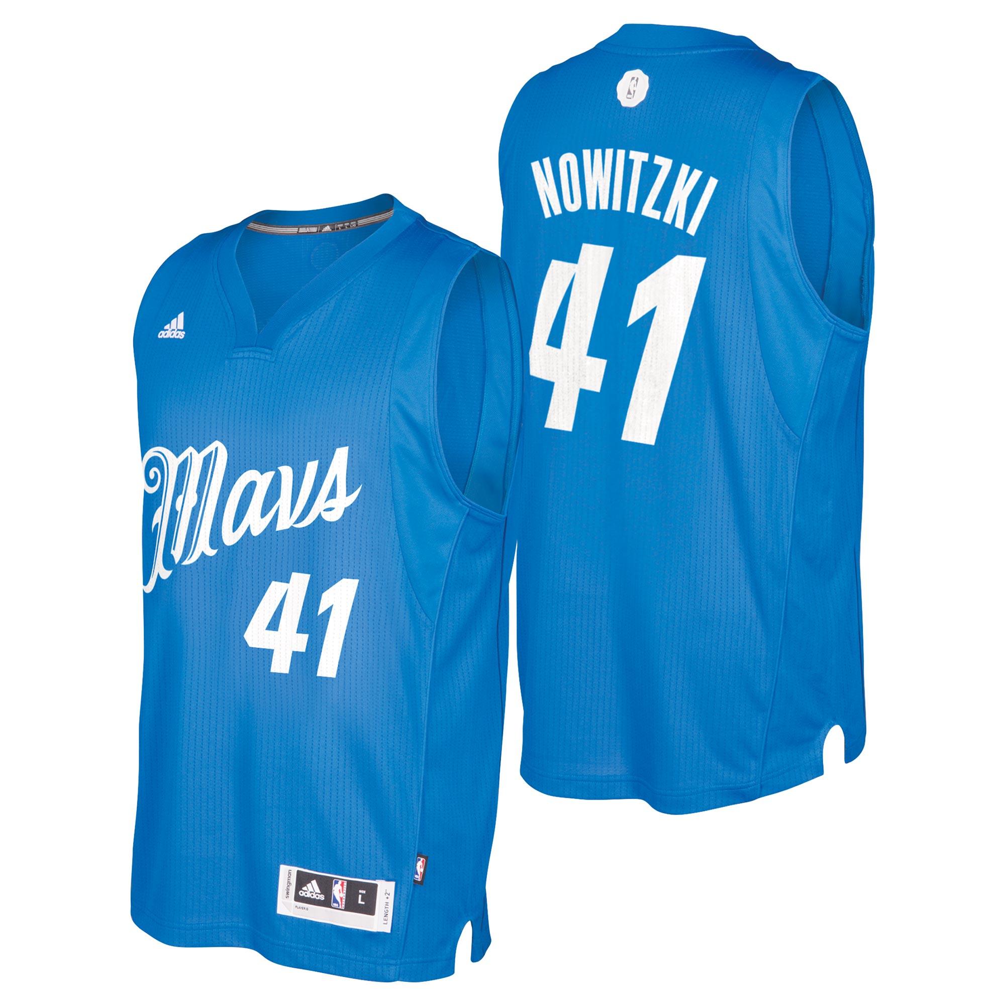 Dallas Mavericks Christmas Day Swingman Jersey 2016 - Dirk Nowizki - M