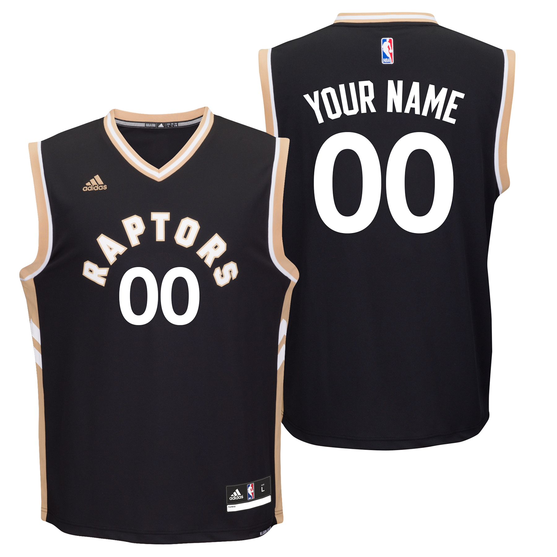 Toronto Raptors Alternate Replica Jersey - Custom - Mens