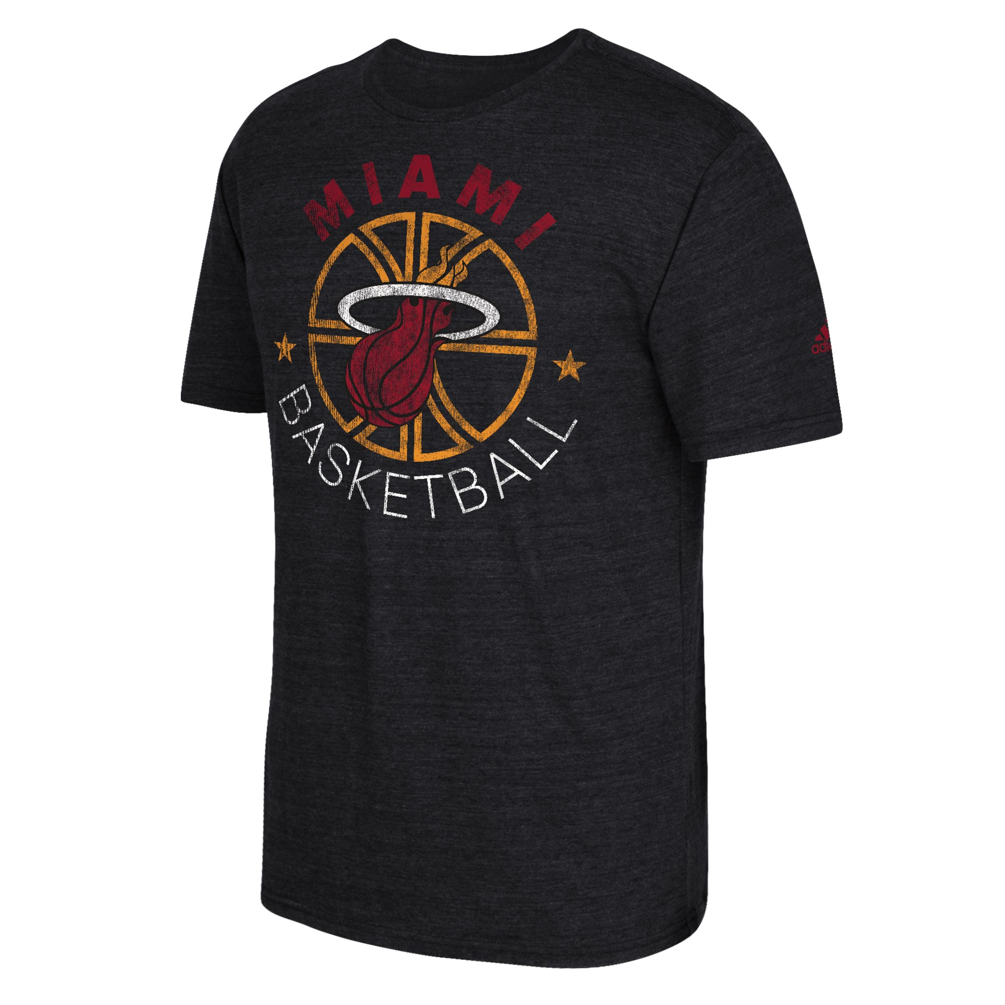 Miami Heat adidas Double Dribble T-Shirt - Mens