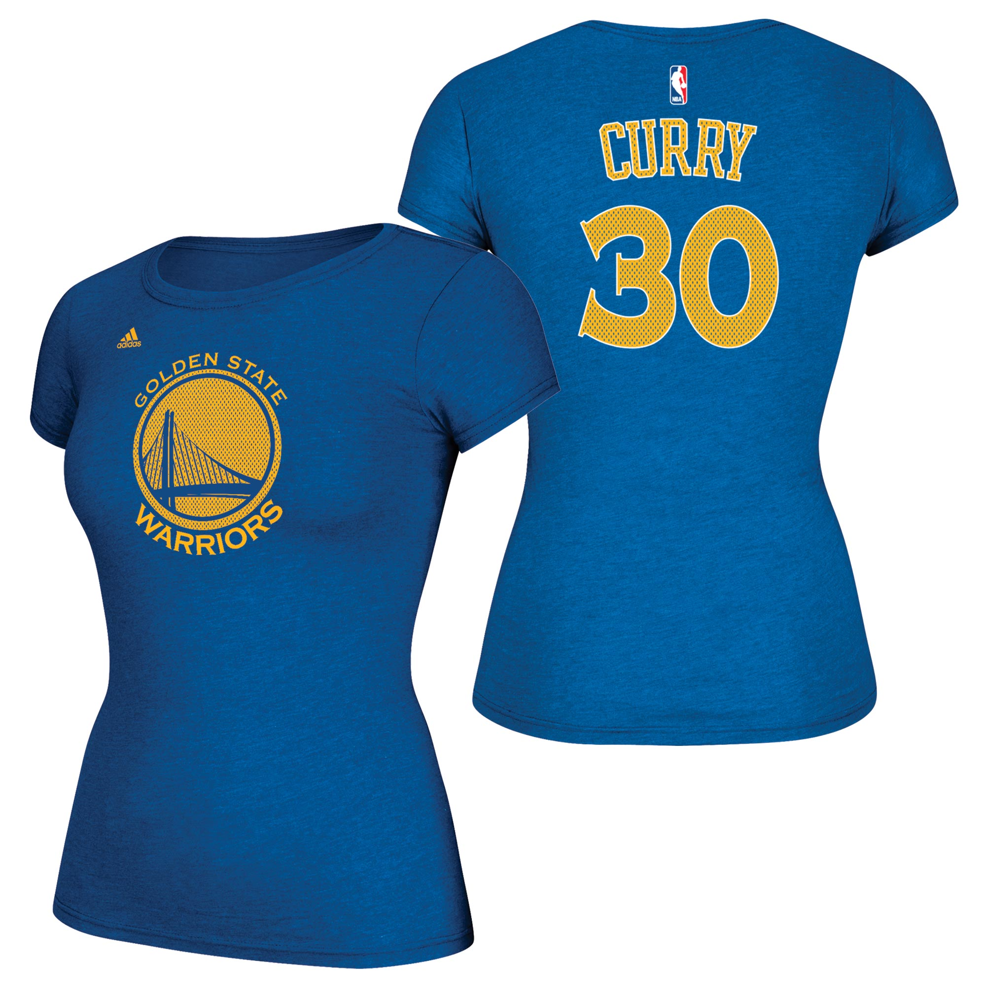 Golden State Warriors adidas Mesh  Name & Number T-Shirt - Stephen Cur