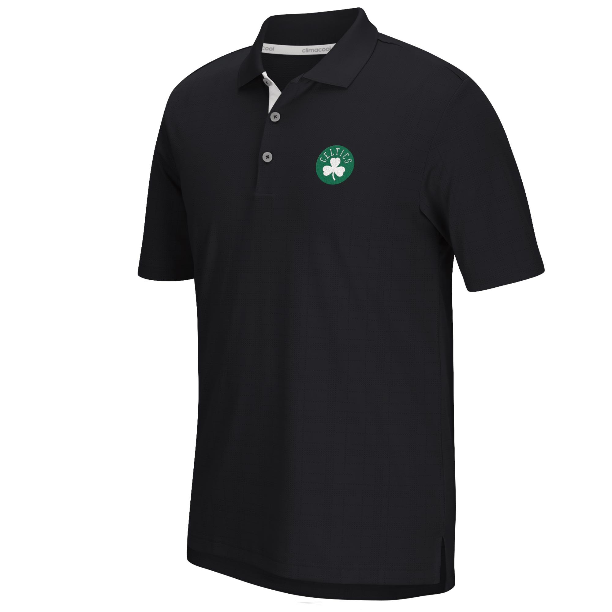 Boston Celtics adidas Climacool Grid Textured Polo - Mens