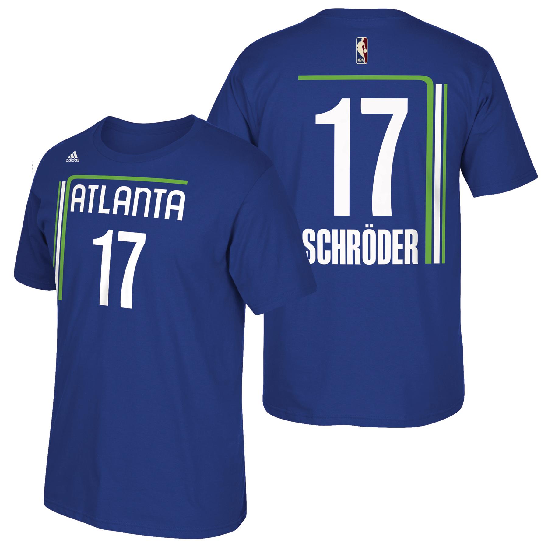 Atlanta Hawks adidas Hardwood Classics Nights Name & Number T-Shirt -