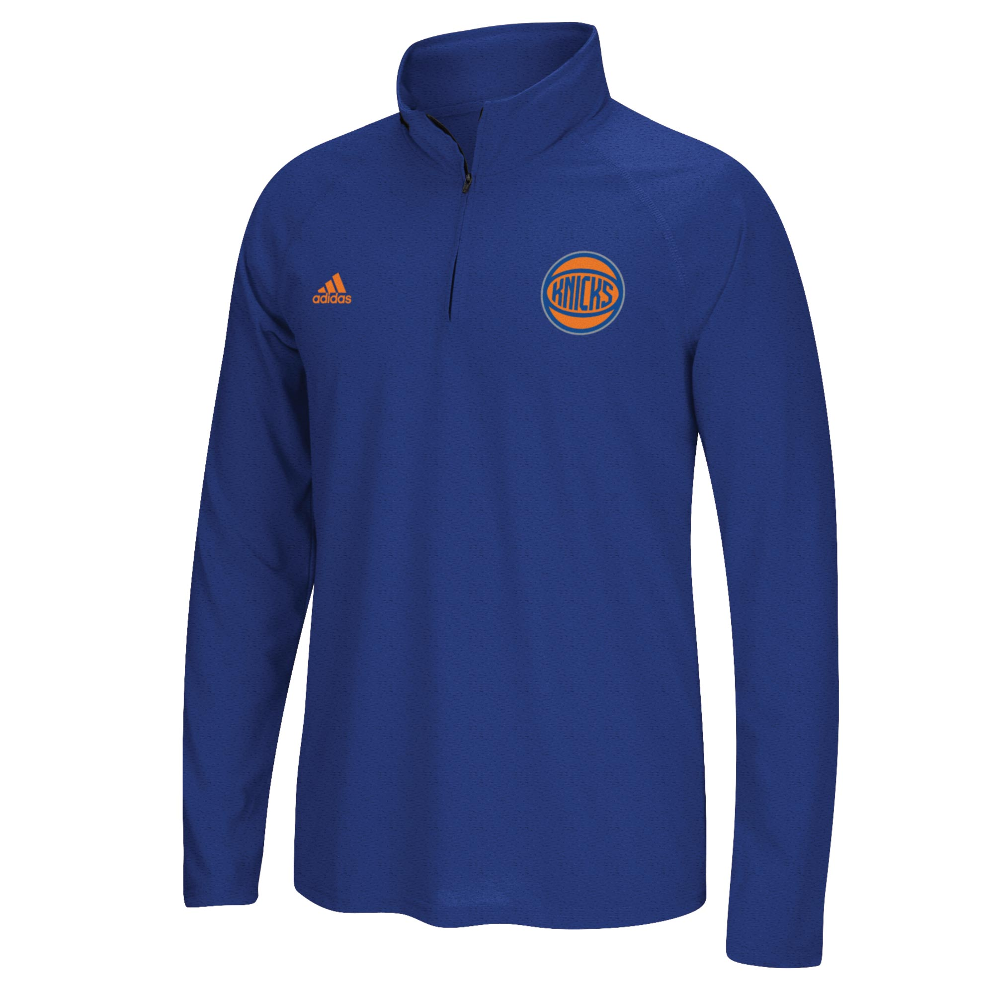 New York Knicks adidas Climalite 1/4 Zip Top - Mens