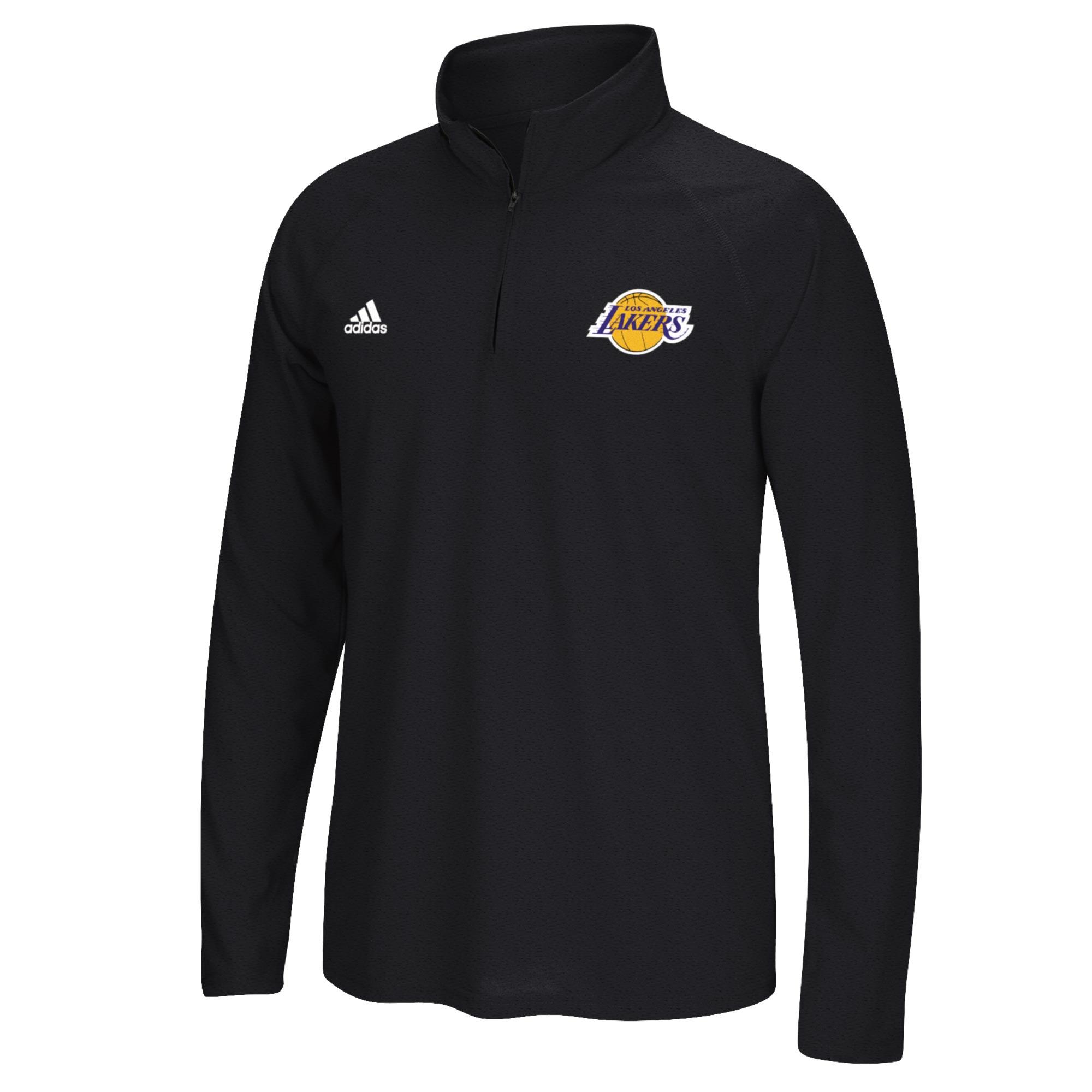 Los Angeles Lakers adidas Climalite 1/4 Zip Top - Mens