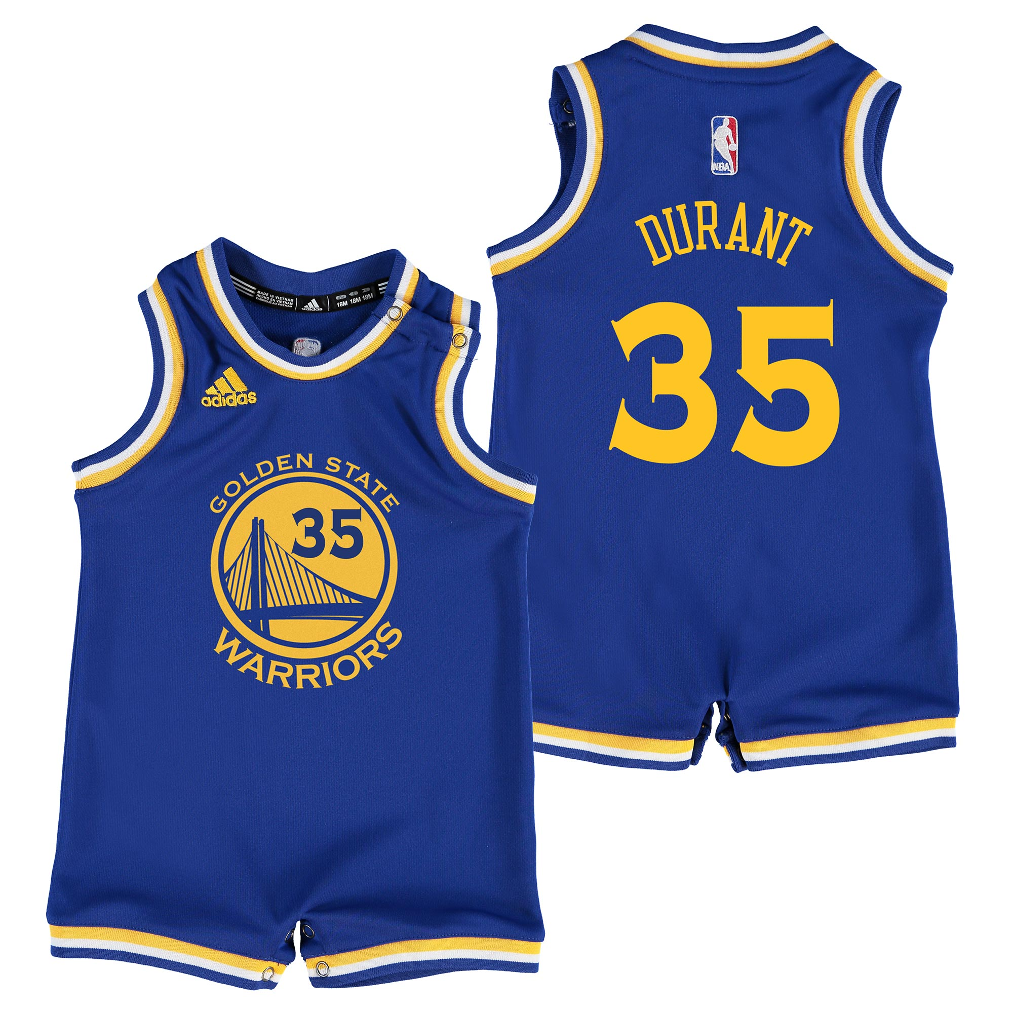 Golden State Warriors Road Replica Jersey - Kevin Durant - Infant