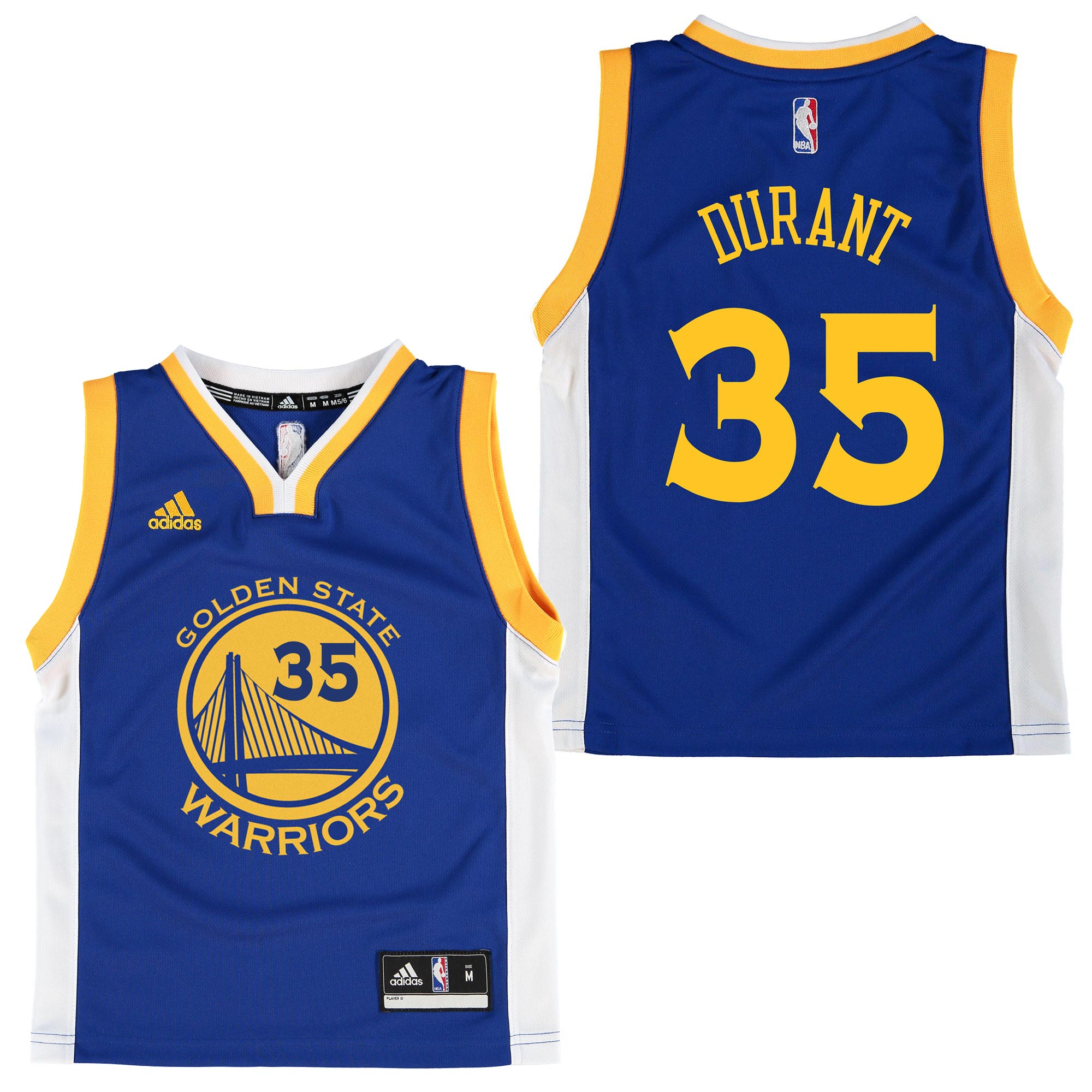 Golden State Warriors Road Replica Jersey - Kevin Durant - Kids