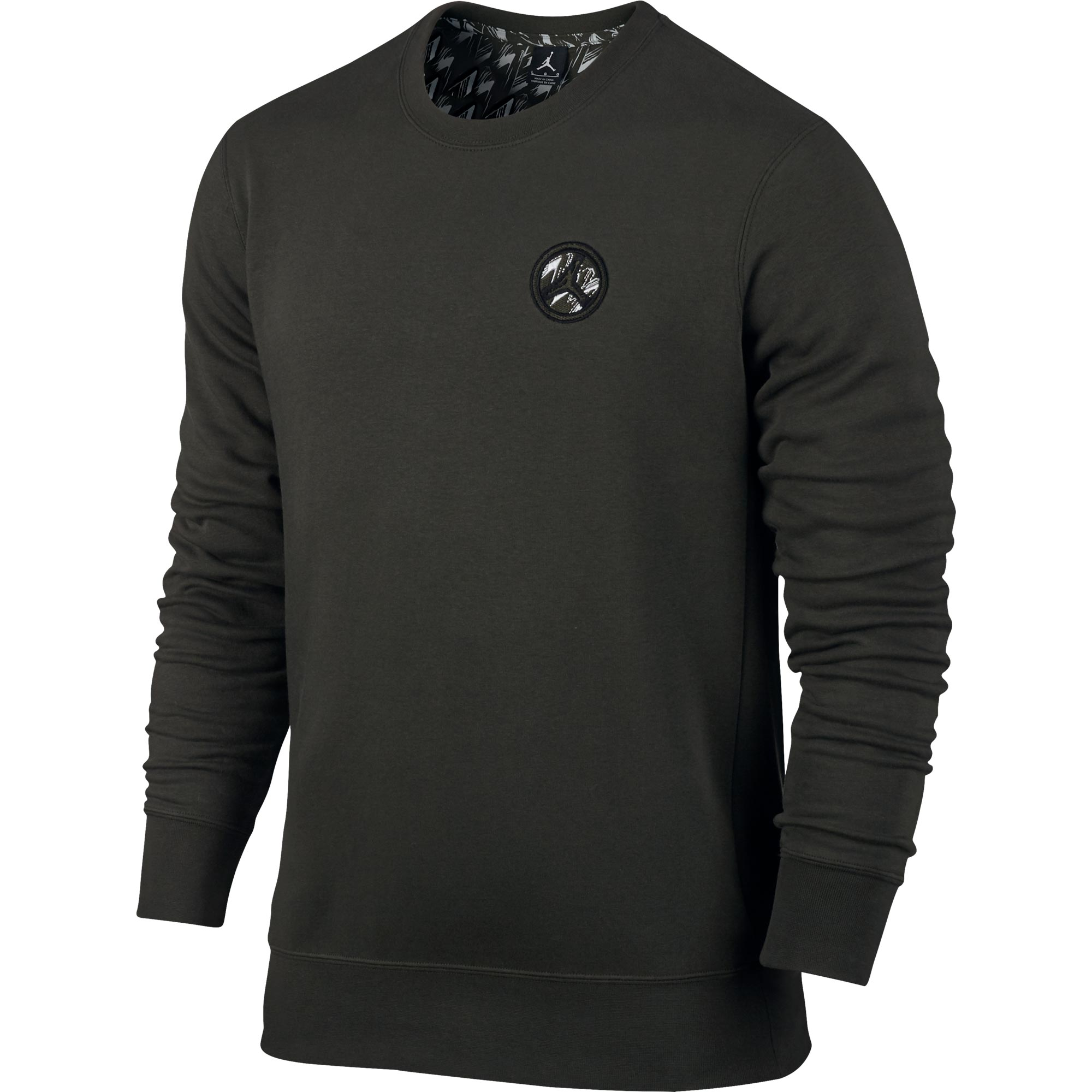 Jordan AJ 8 Fleece Crew Sweatshirt - Sequoia/Black - Mens