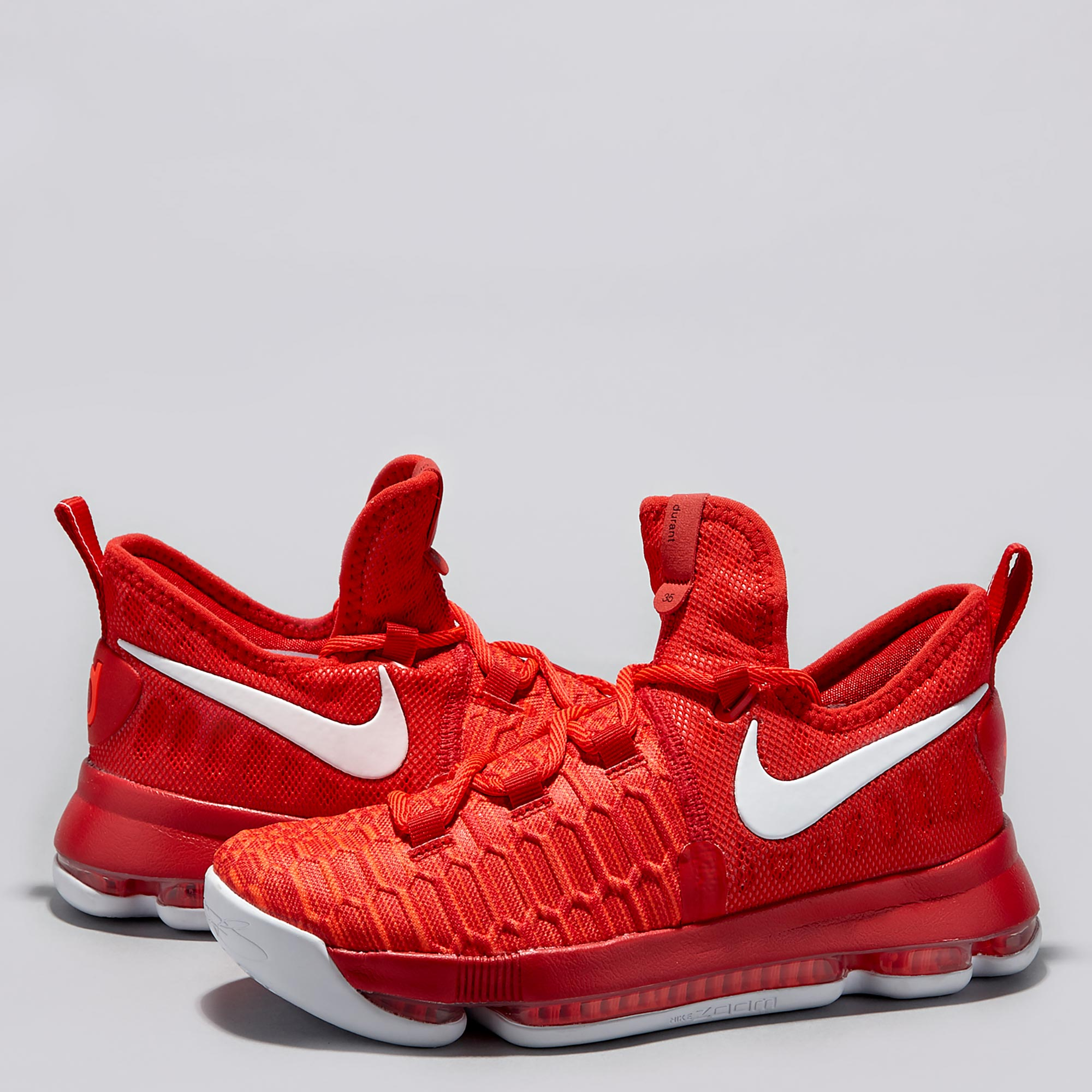 Nike KD 9 Basketball Shoe - University Red/White - Youth