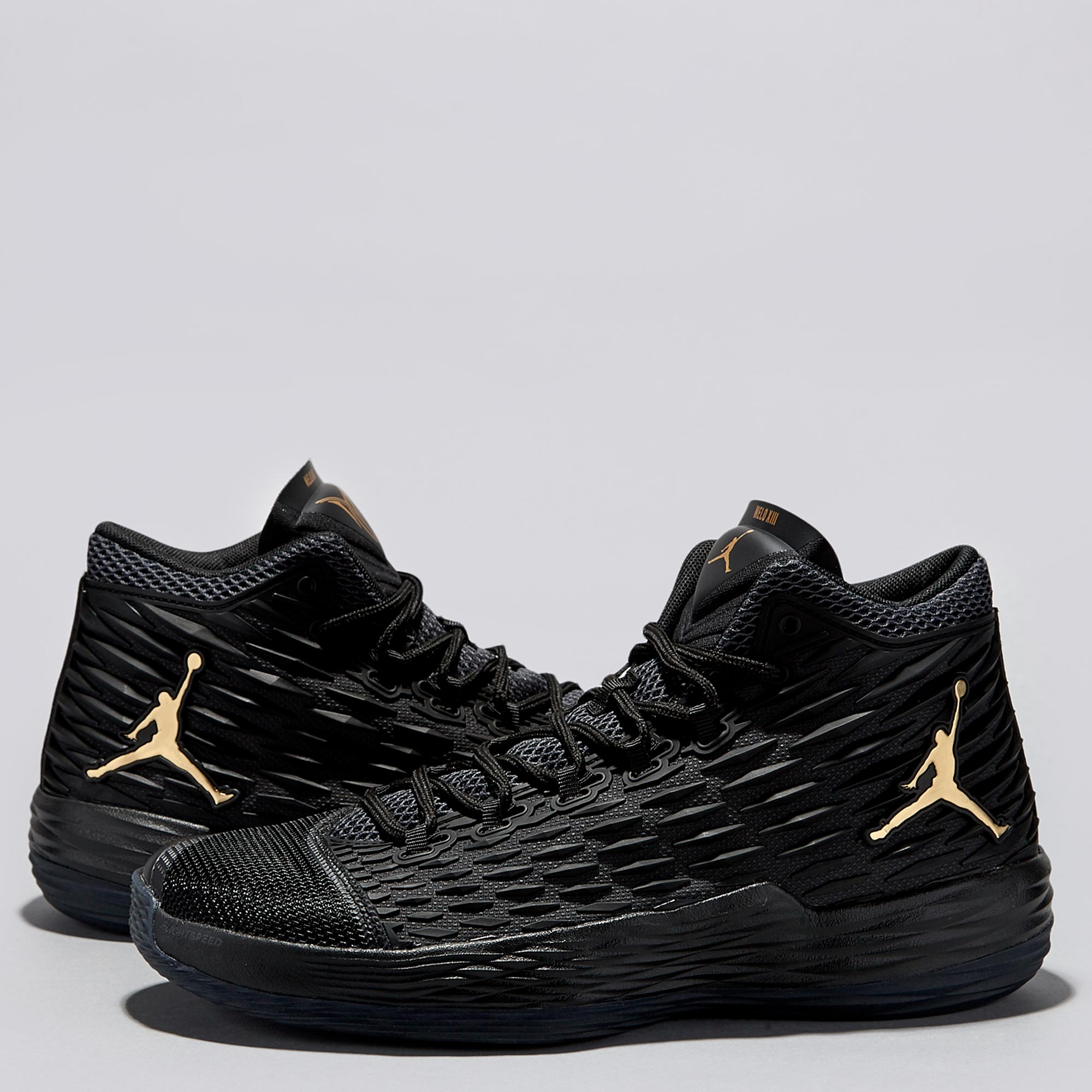 Jordan Melo M13 Basketball Shoe - Black/Metallic Gold - Mens