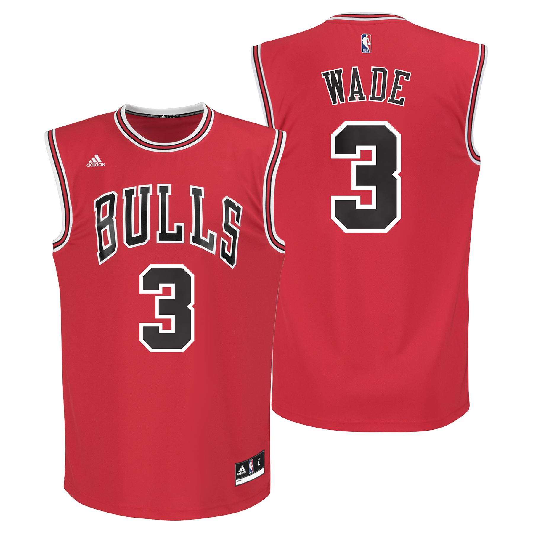 Chicago Bulls Road Replica Jersey - Dwyane Wade - Youth