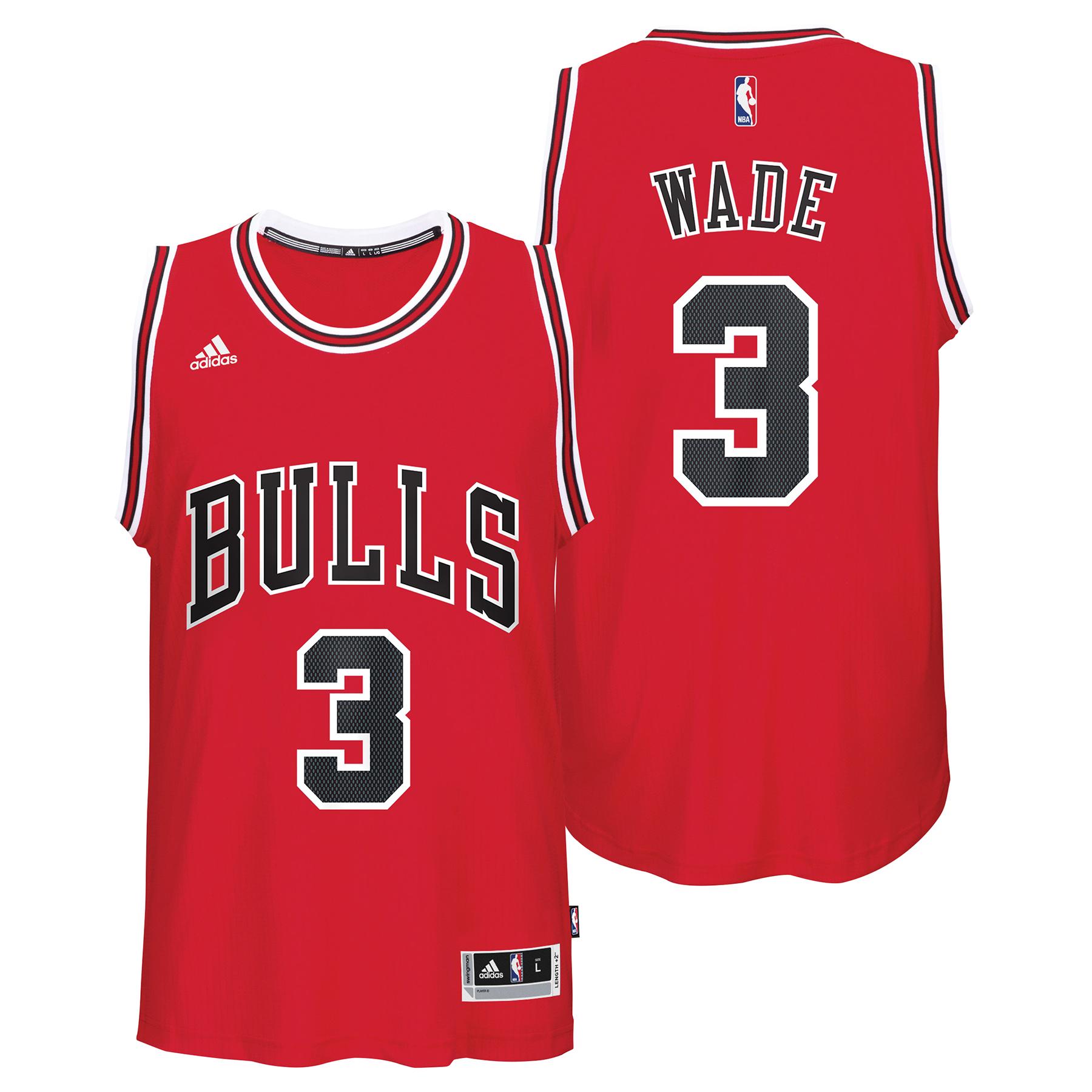 Chicago Bulls Road Swingman Jersey - Dwyane Wade - Mens