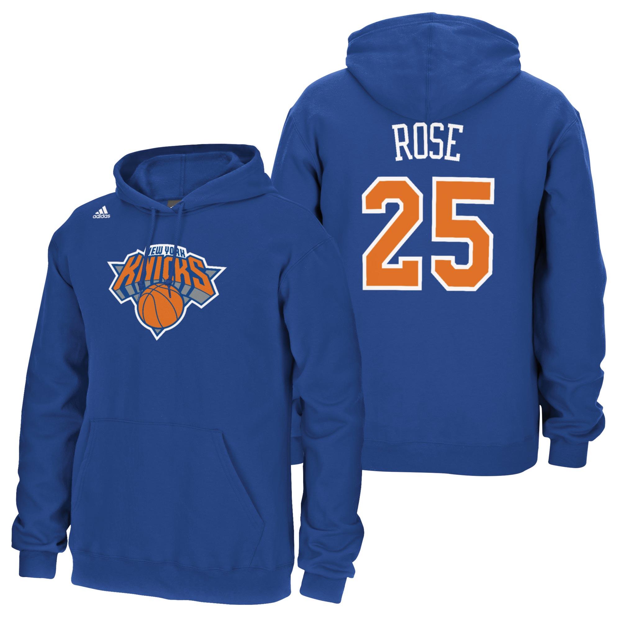 New York Knicks adidas Name & Number Hoodie - Derrick Rose - Mens
