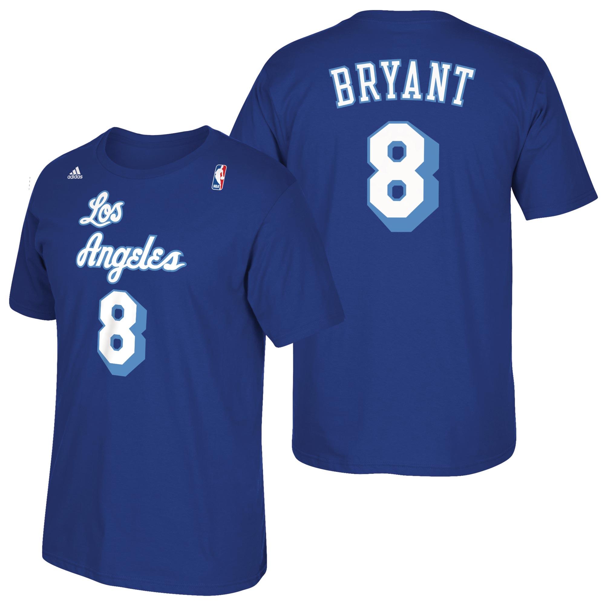 Los Angeles Lakers adidas Soul Name & Number T-Shirt - Kobe Bryant - M