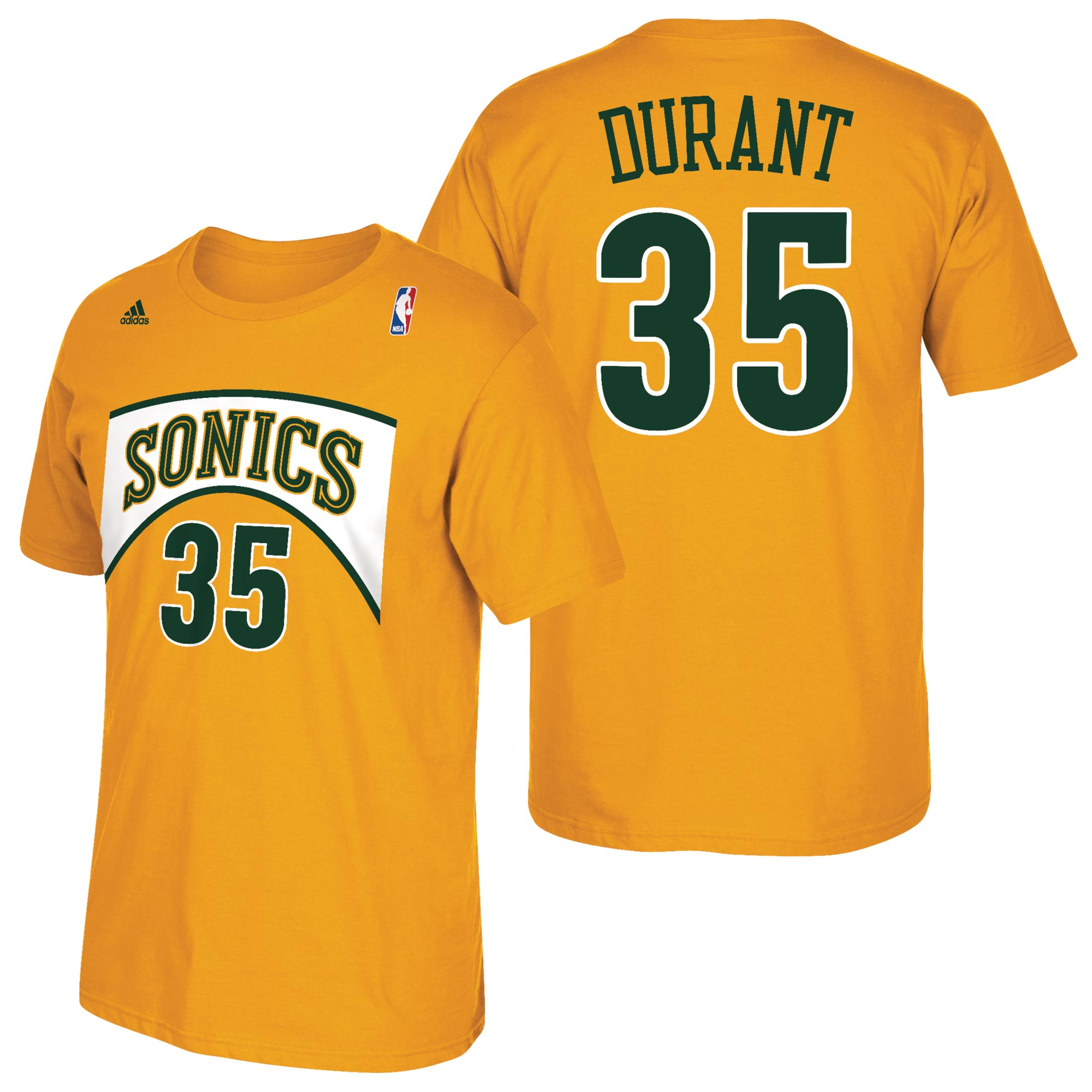 Seattle Supersonics adidas Soul Name & Number T-Shirt - Kevin Durant -