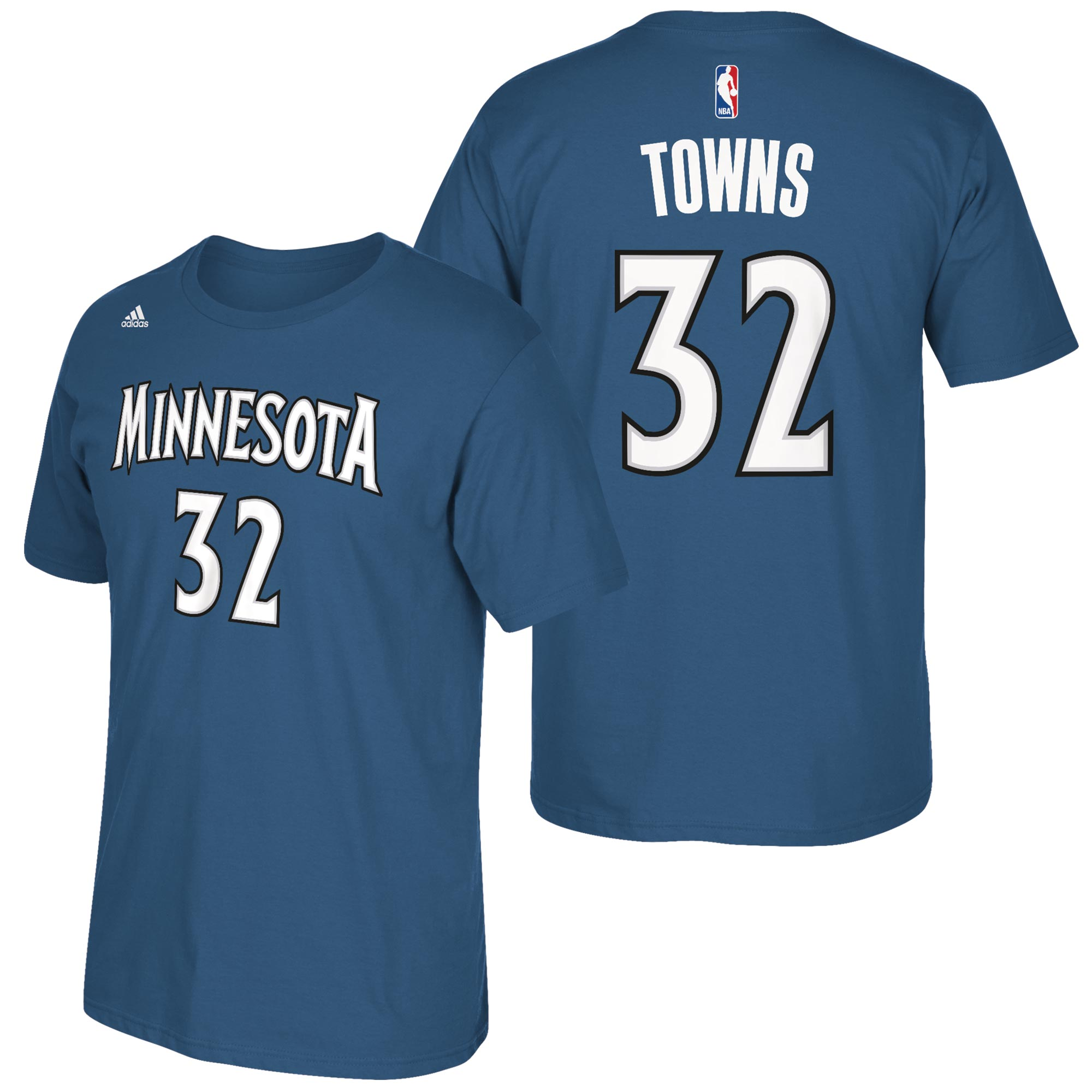 Minnesota Timberwolves adidas Name & Number T-Shirt - Karl Anthony-Tow