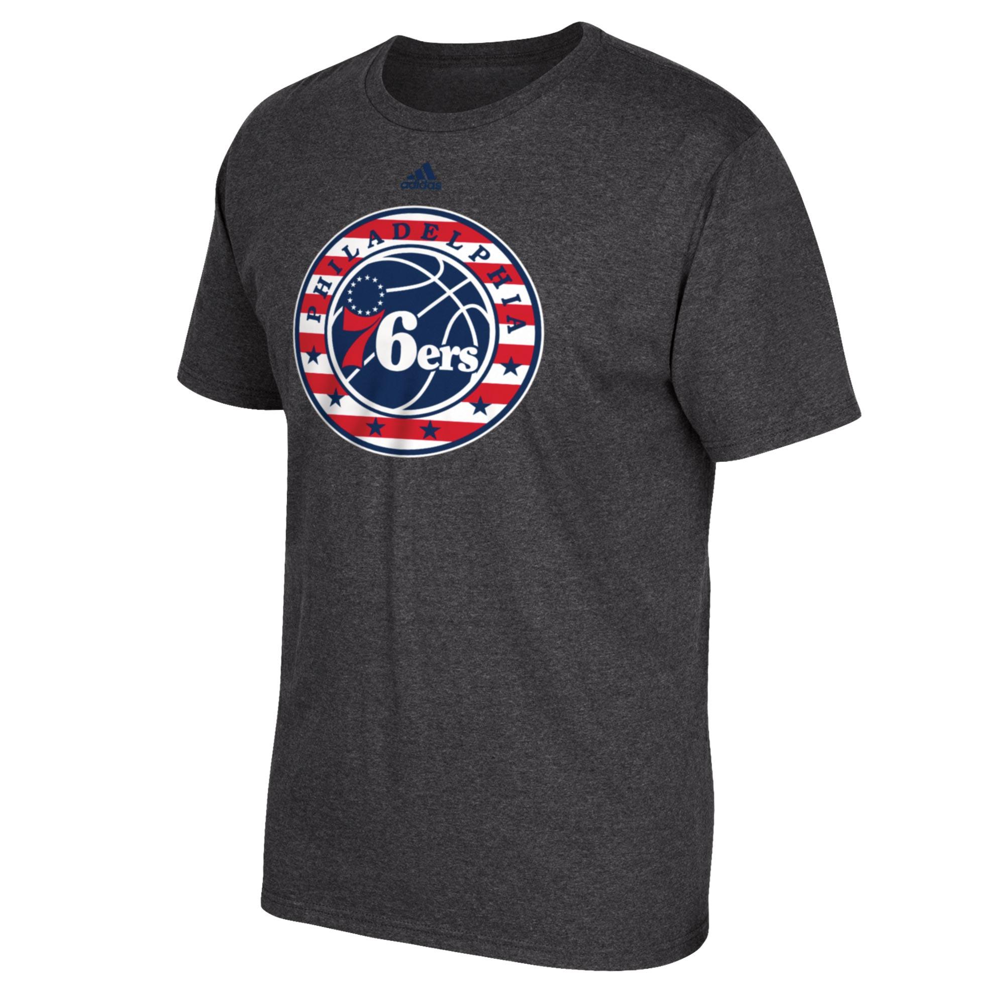 Philadelphia 76ers adidas Stars & Stripes T-Shirt - Mens