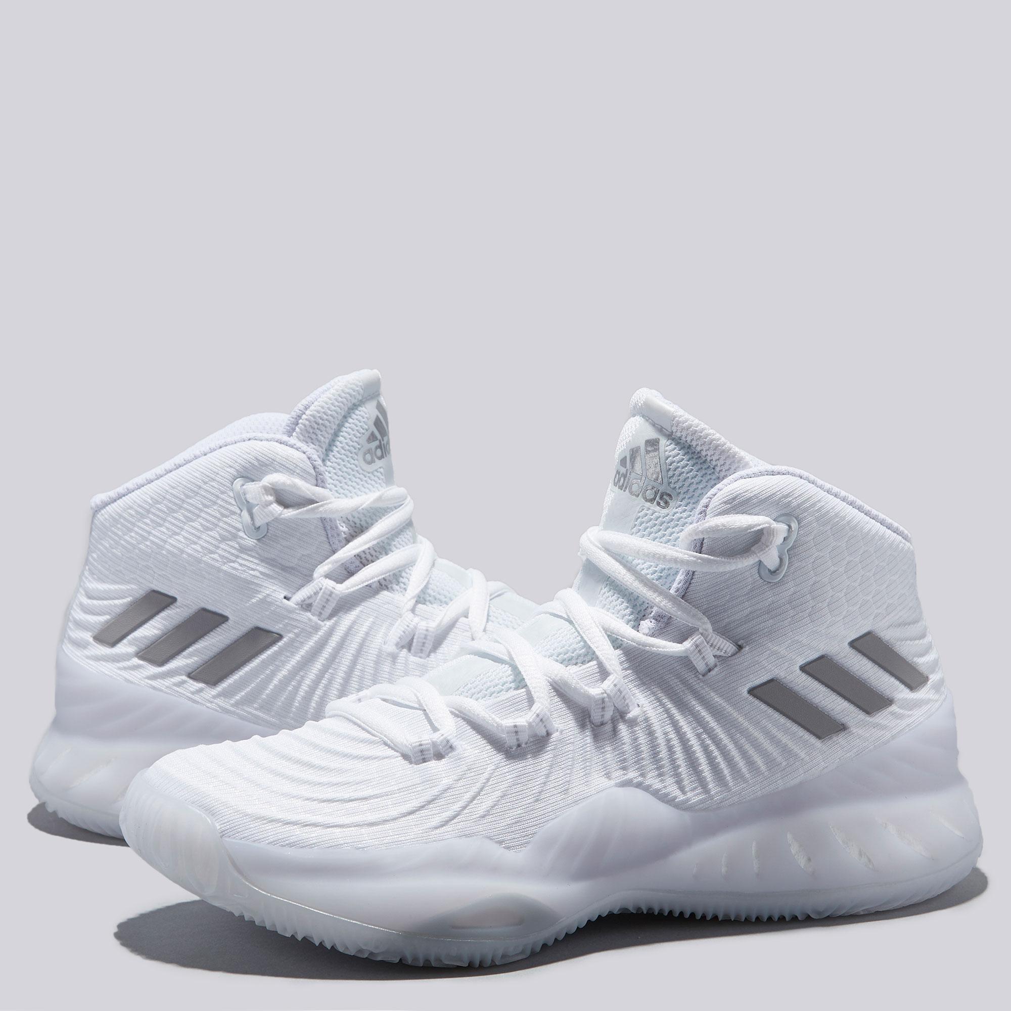 "Image of ""adidas Crazy Explosive 2017 Basketball Shoe - Core White - Youth"""