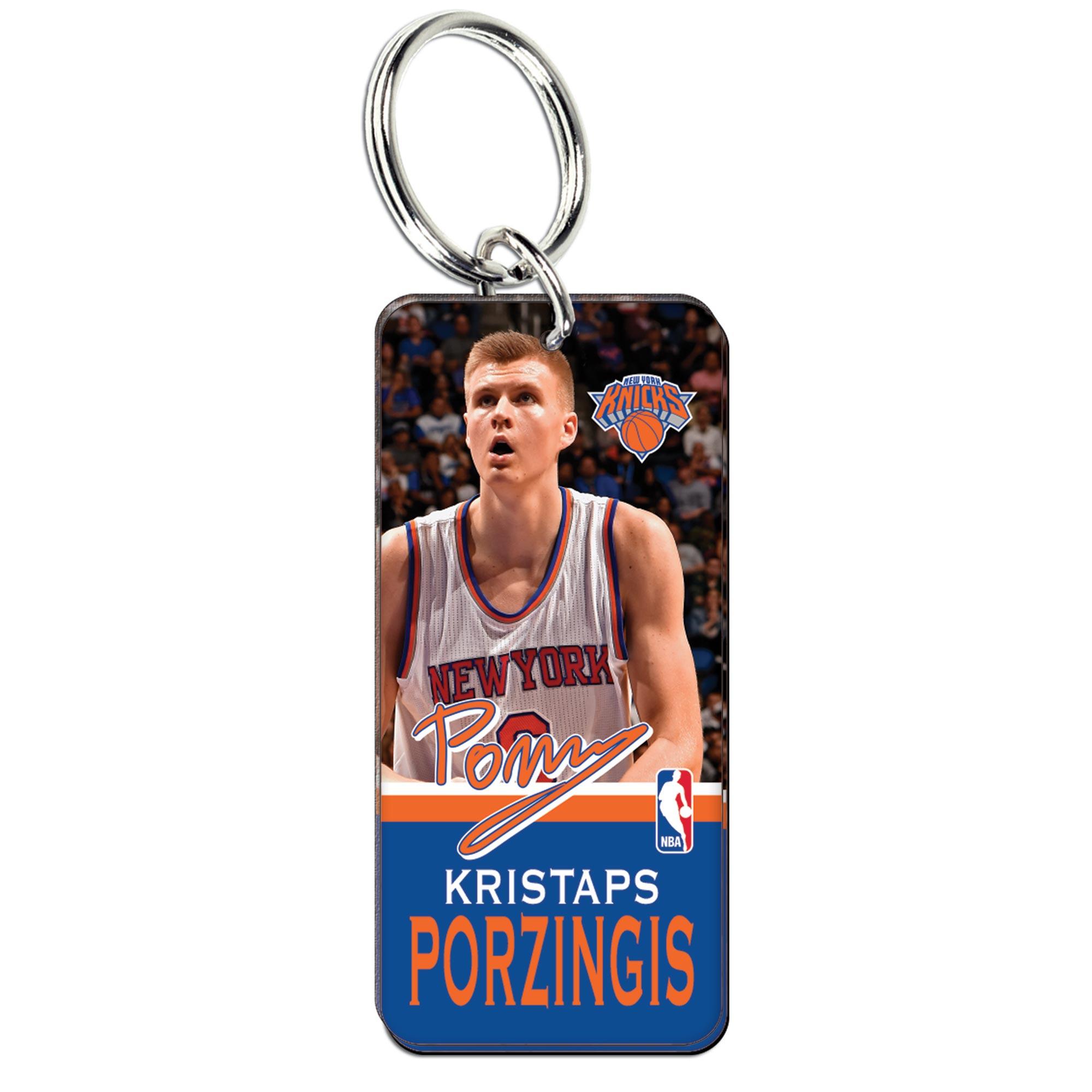 New York Knicks Kristops Porzingis Glossy Key Ring
