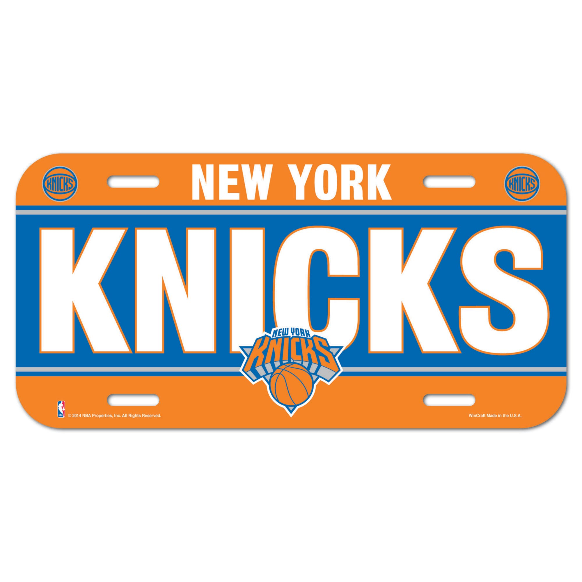 New York Knicks Wall License Plate