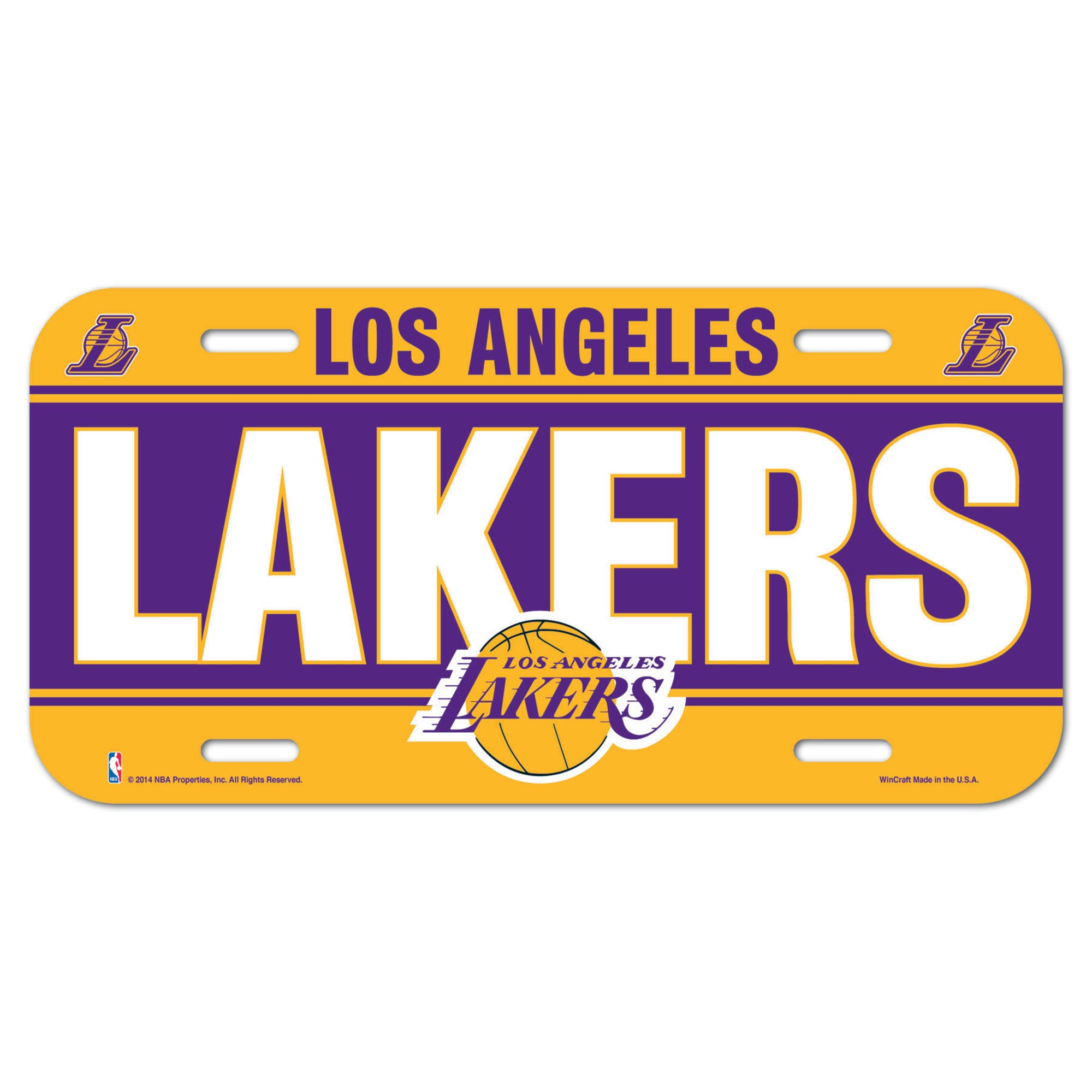 Los Angeles Lakers Wall License Plate