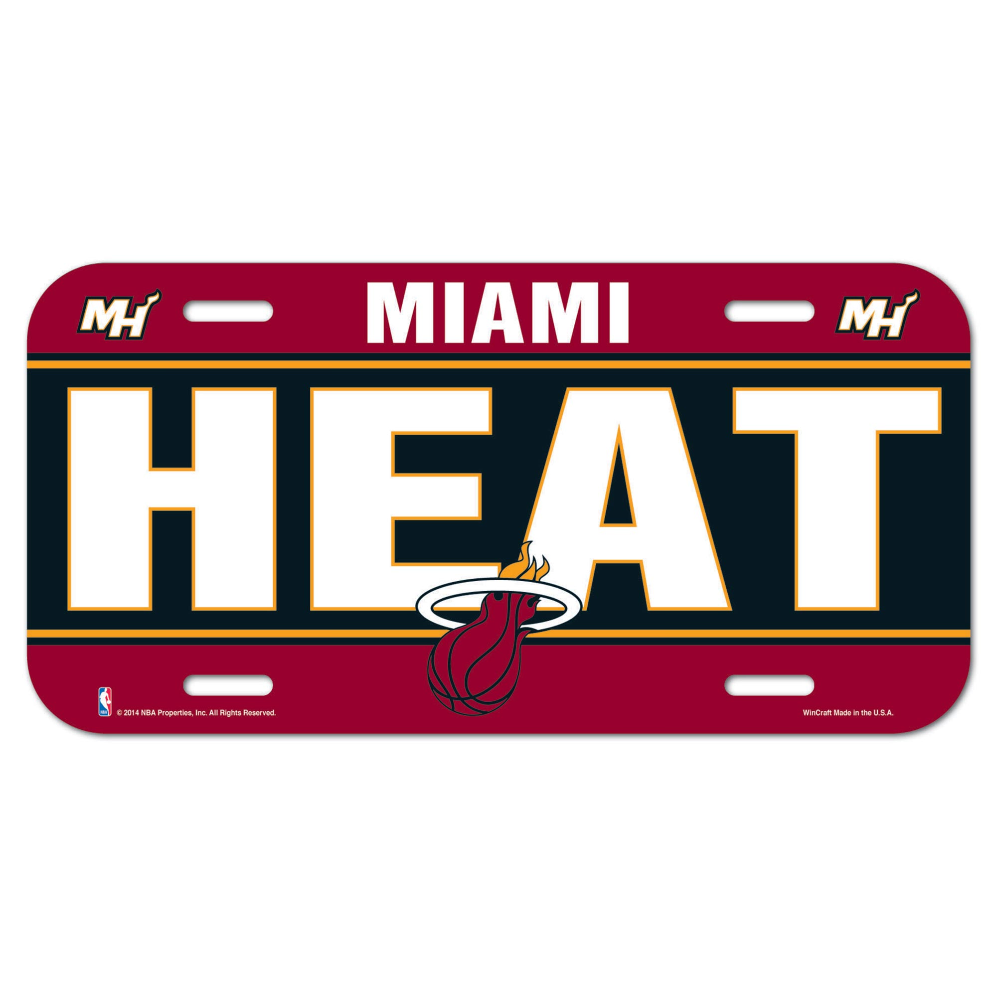 Miami Heat Wall License Plate
