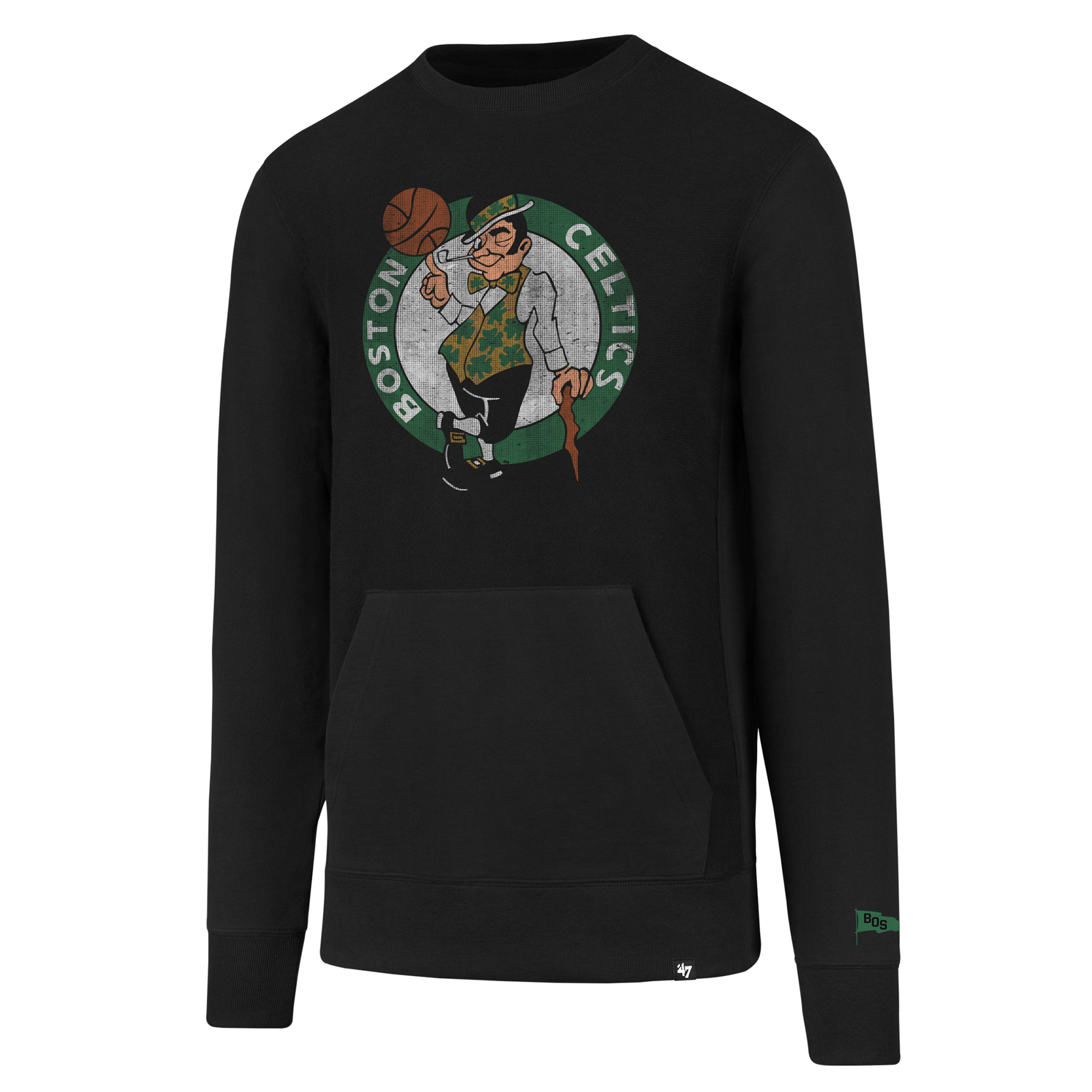 "Image of ""Boston Celtics 47 French Terry Crew Sweatshirt - Mens"""