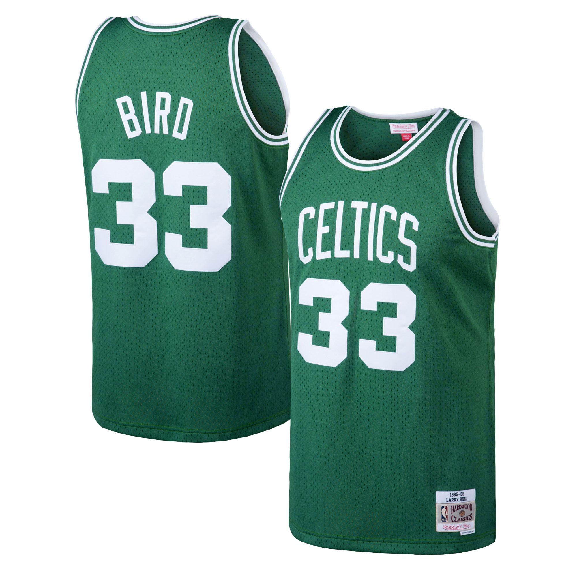 """Boston Celtics Larry Bird Hardwood Road Classics Swingman Jersey - Mens"""