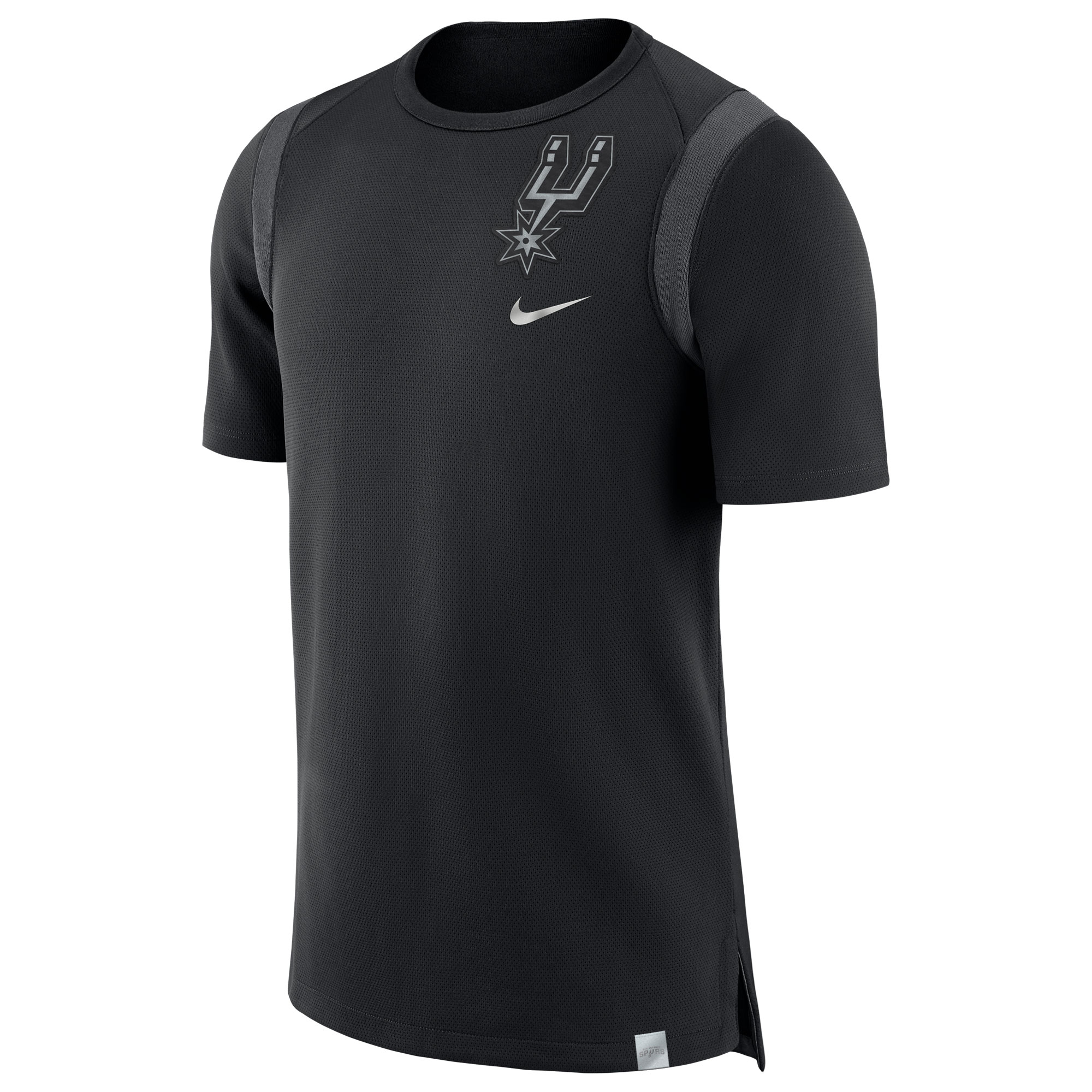 San Antonio Spurs Jordan Baller Short Sleeve Top - Negro Borrosa - Hombre