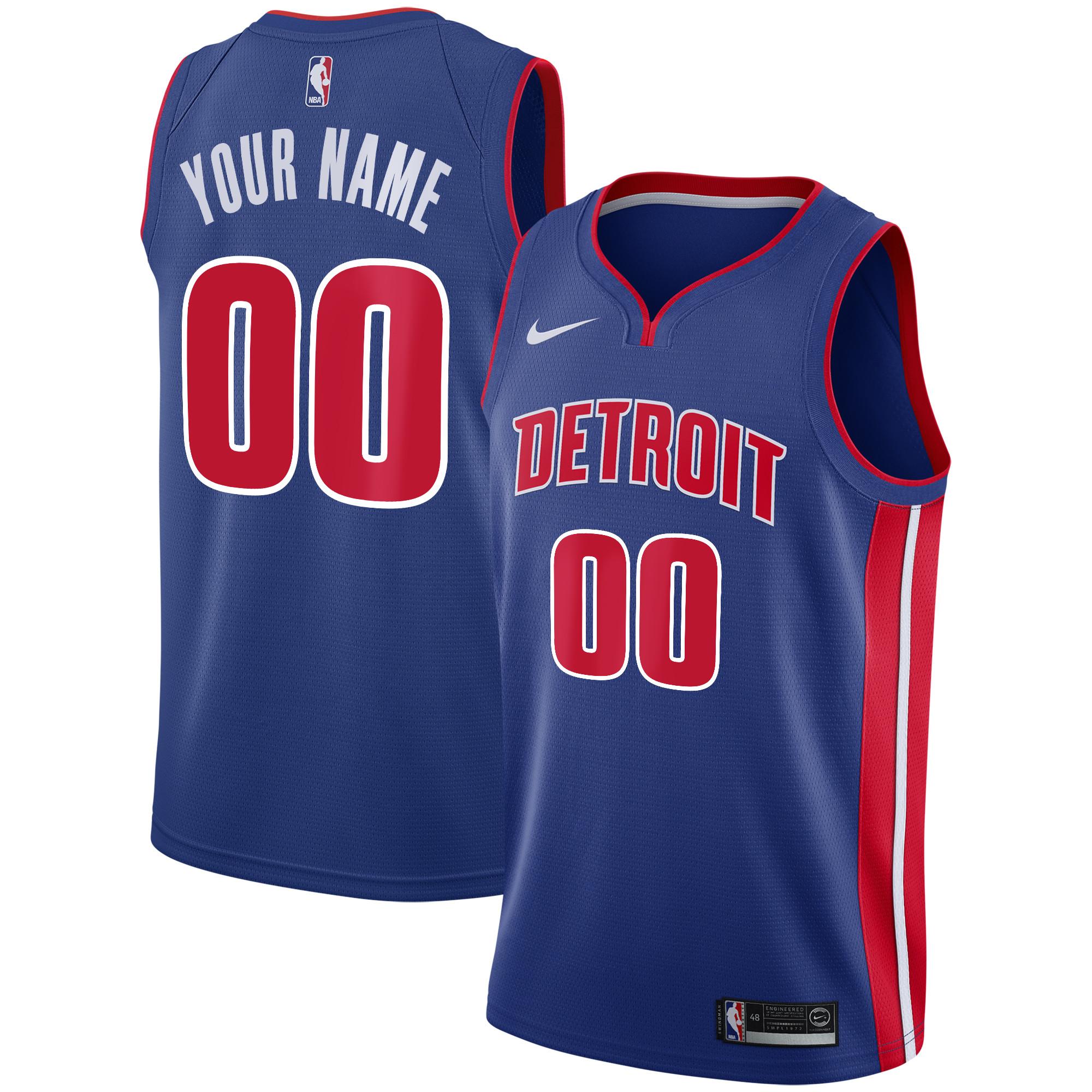 Detroit Pistons Nike Icon Swingman Camiseta de la NBA - Custom - Hombre