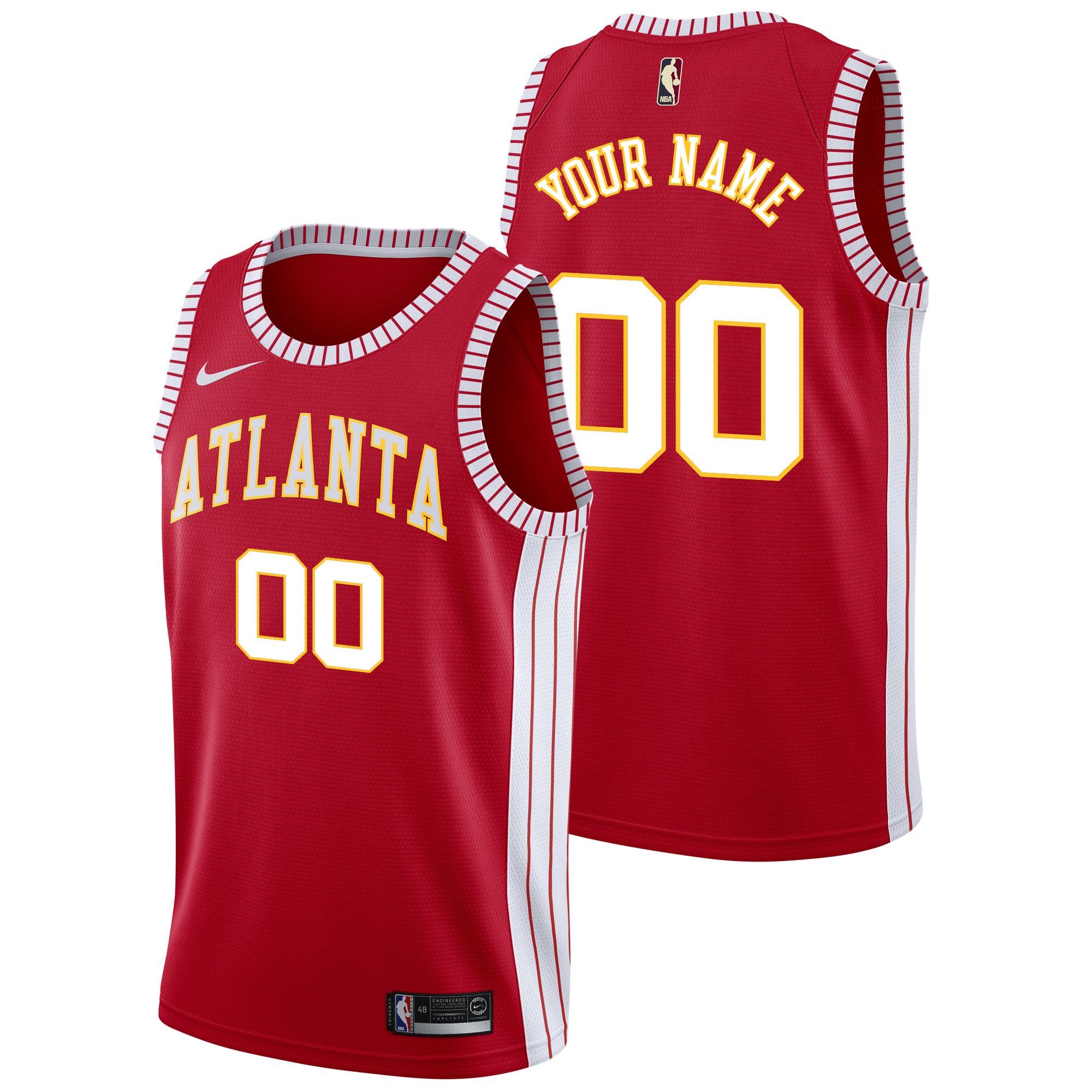 """Image of """"Atlanta Hawks Atlanta Hawks Nike Classic Edition Swingman Jersey - Custom - Mens"""""""