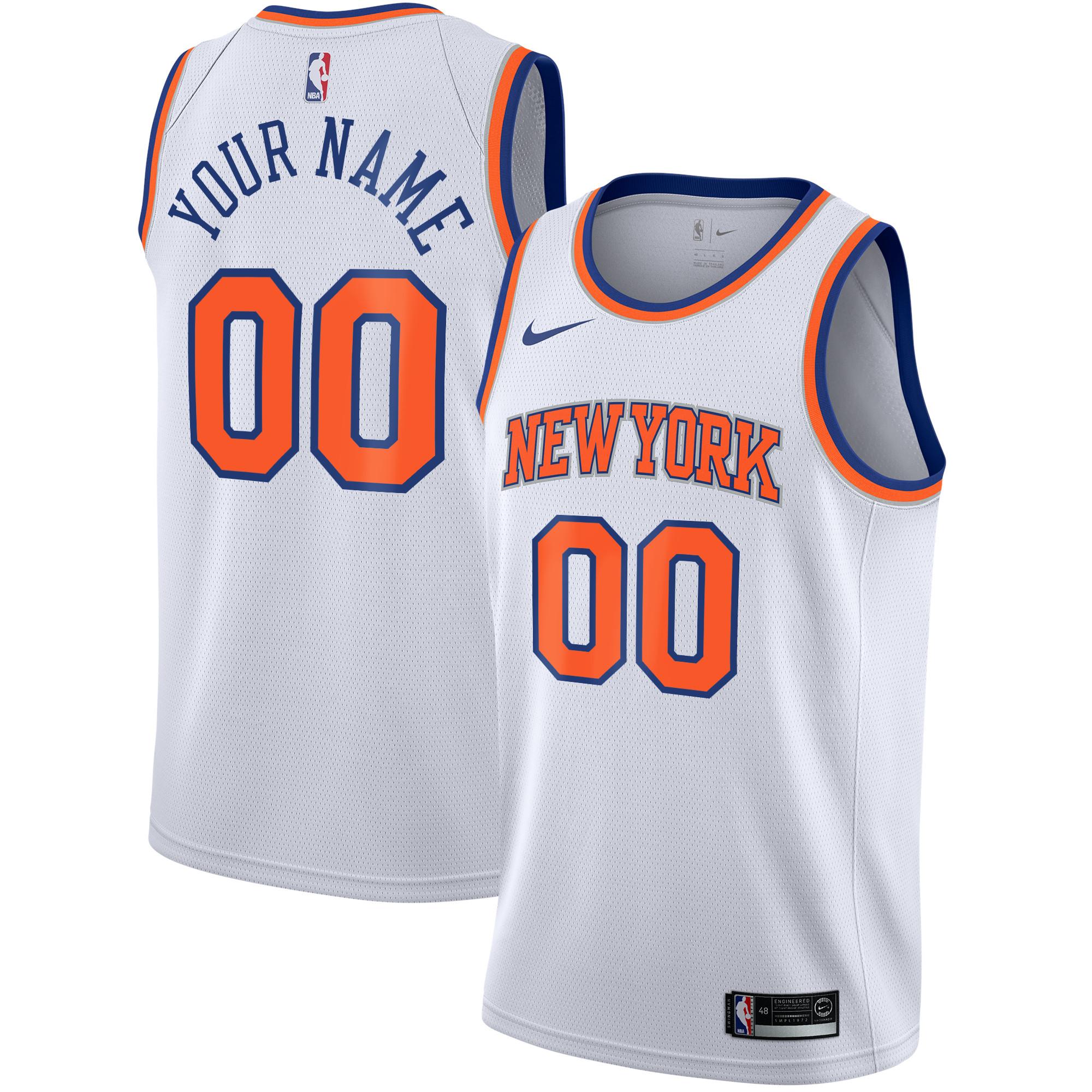 New York Knicks Nike Association Swingman Camiseta de la NBA - Custom - Adolescentes