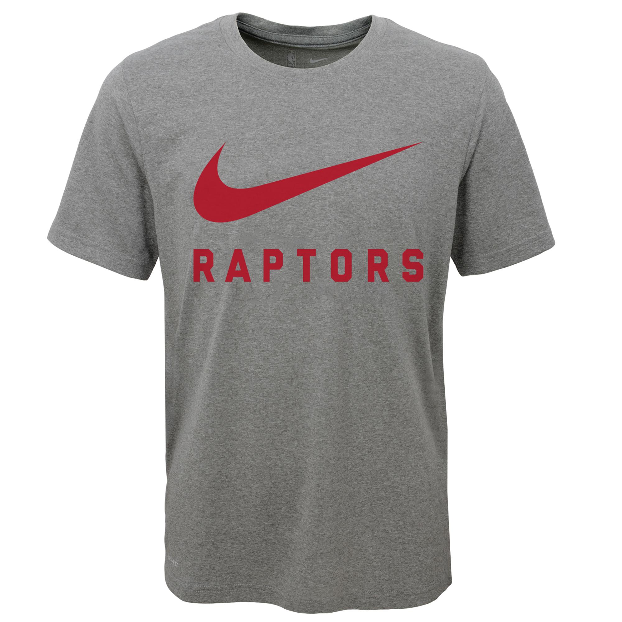 Toronto Raptors Nike Swoosh  Camiseta de la NBA - Dark Gris Borrosa - Adolescentes