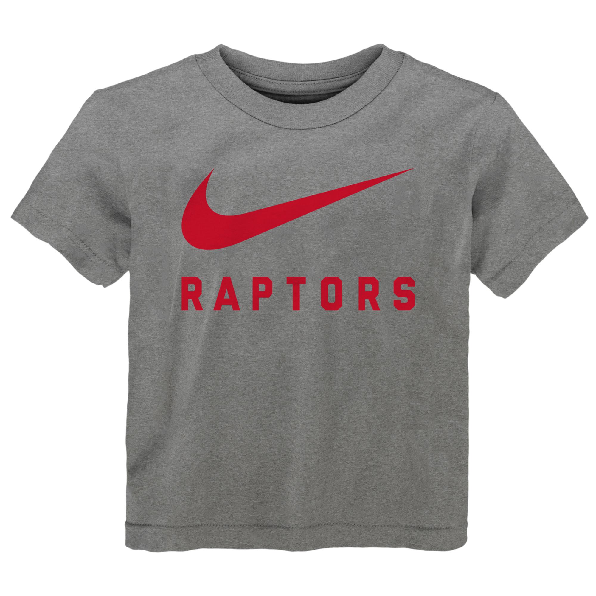Toronto Raptors Nike Swoosh  Camiseta de la NBA - Dark Gris Borrosa - Niños pequeños