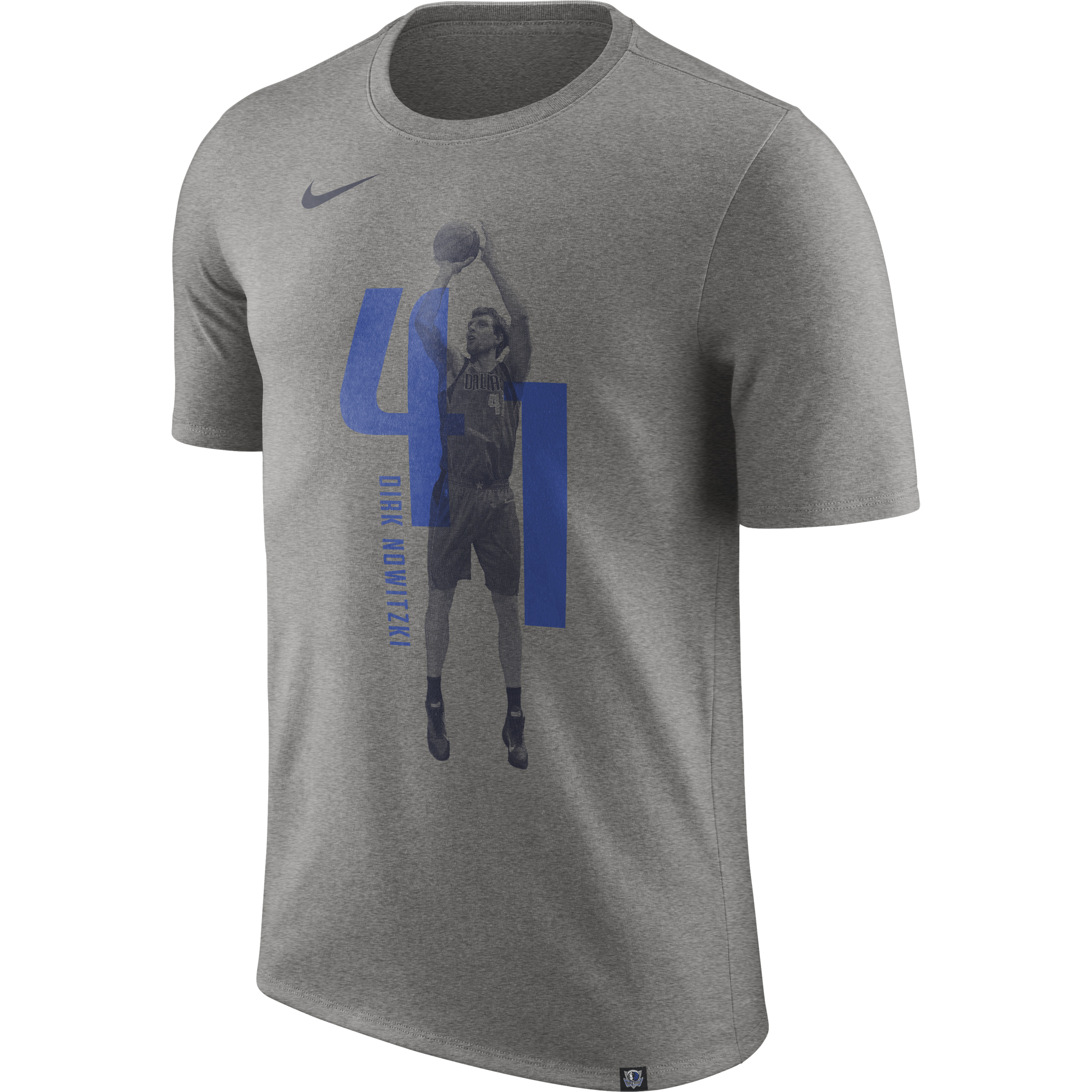 """Dallas Mavericks Nike Dirk Nowitzki Photo Print Player T-Shirt - Mens"""