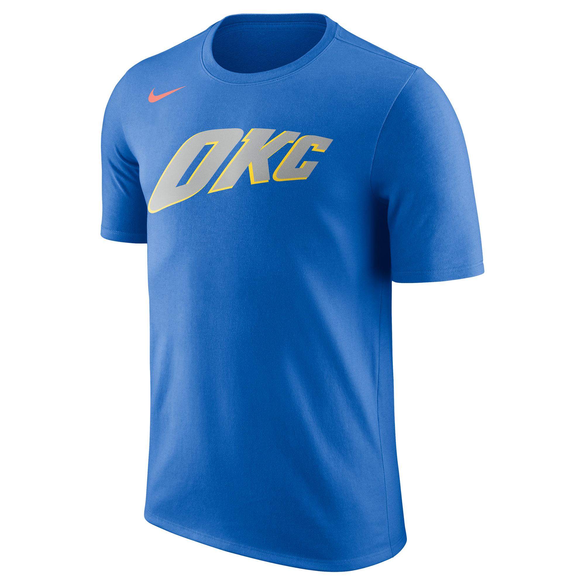 Camiseta Nike City Logo de los Oklahoma City Thunder para hombre